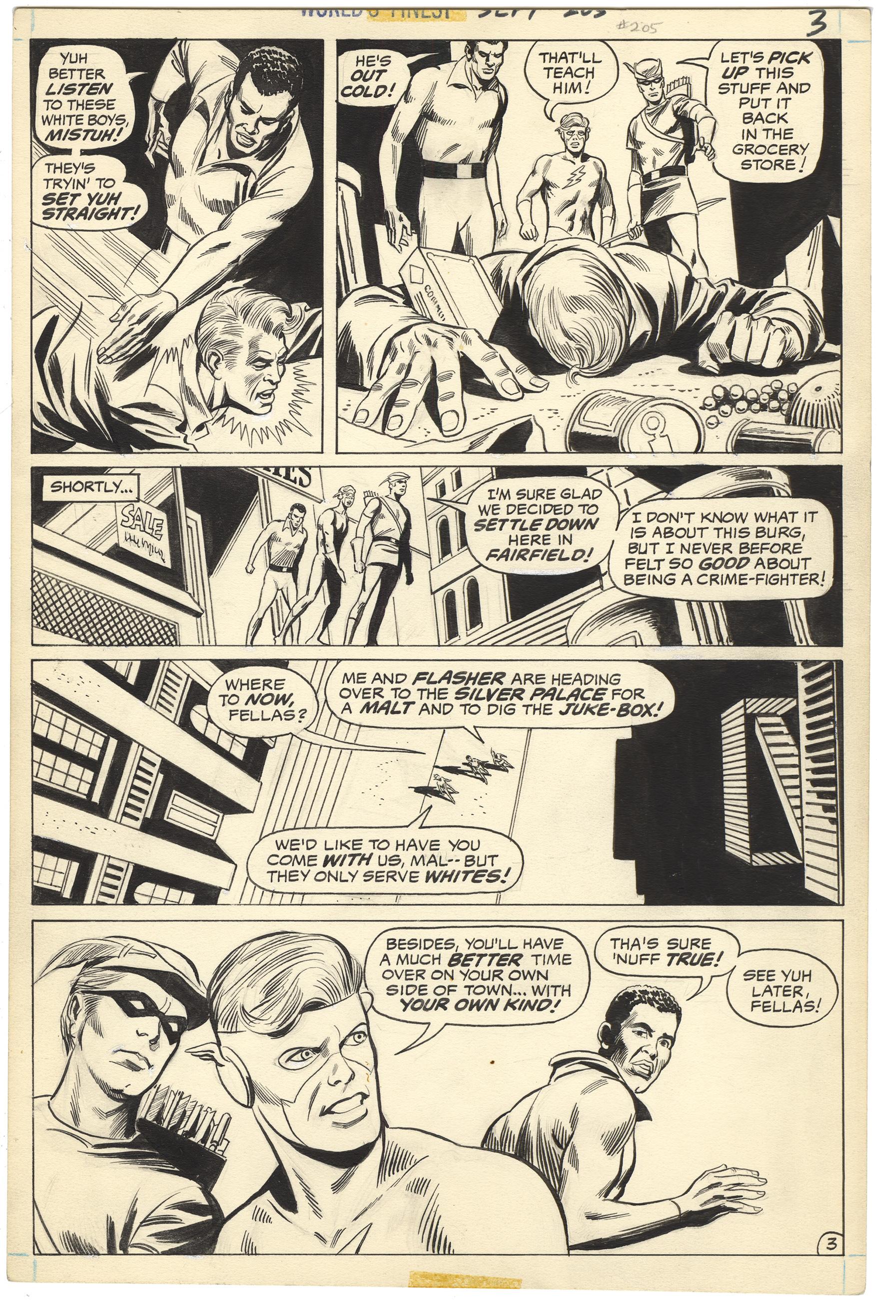 World's Finest Comics #205 p3 (Historic-Racist Page)