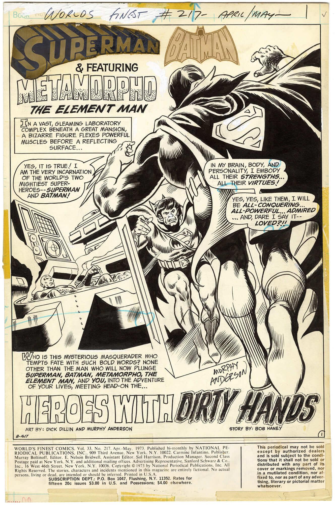 World's Finest Comics #217 p1 (Signed)