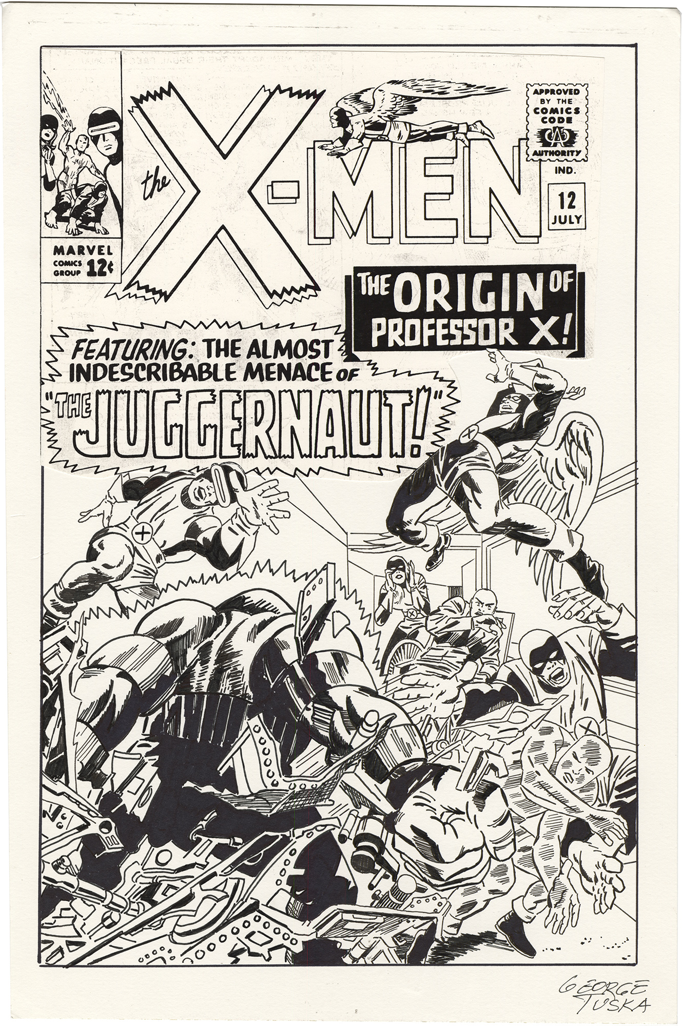 X-Men #12 Cover (Recreation)
