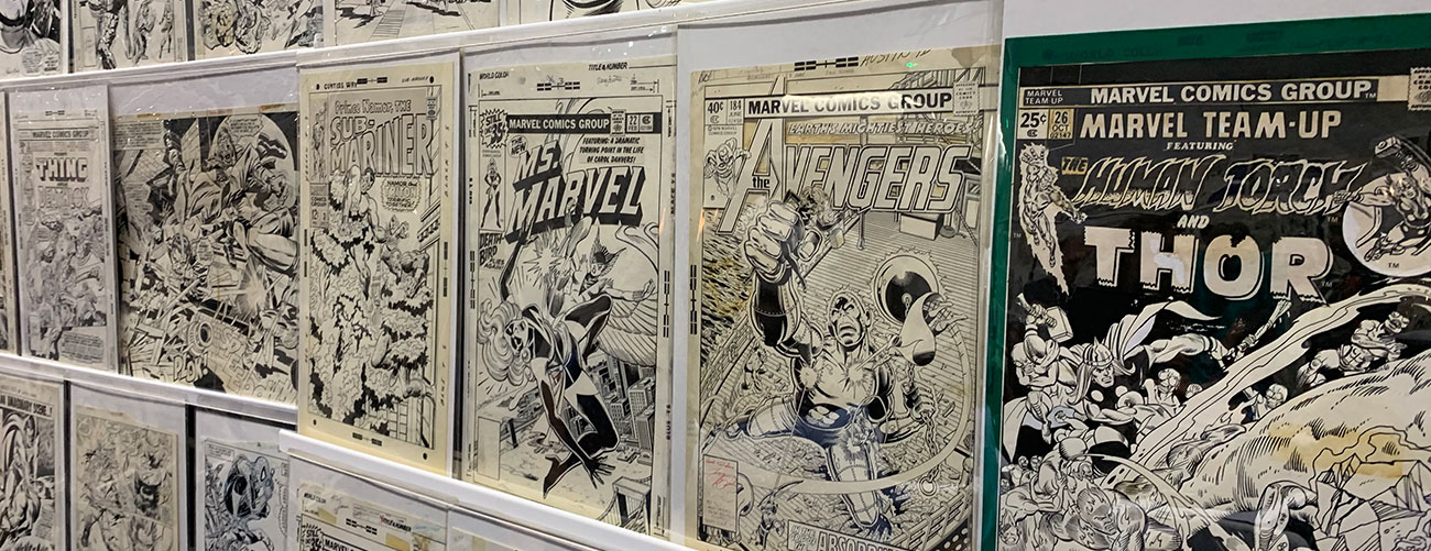 Wall of Comic Art