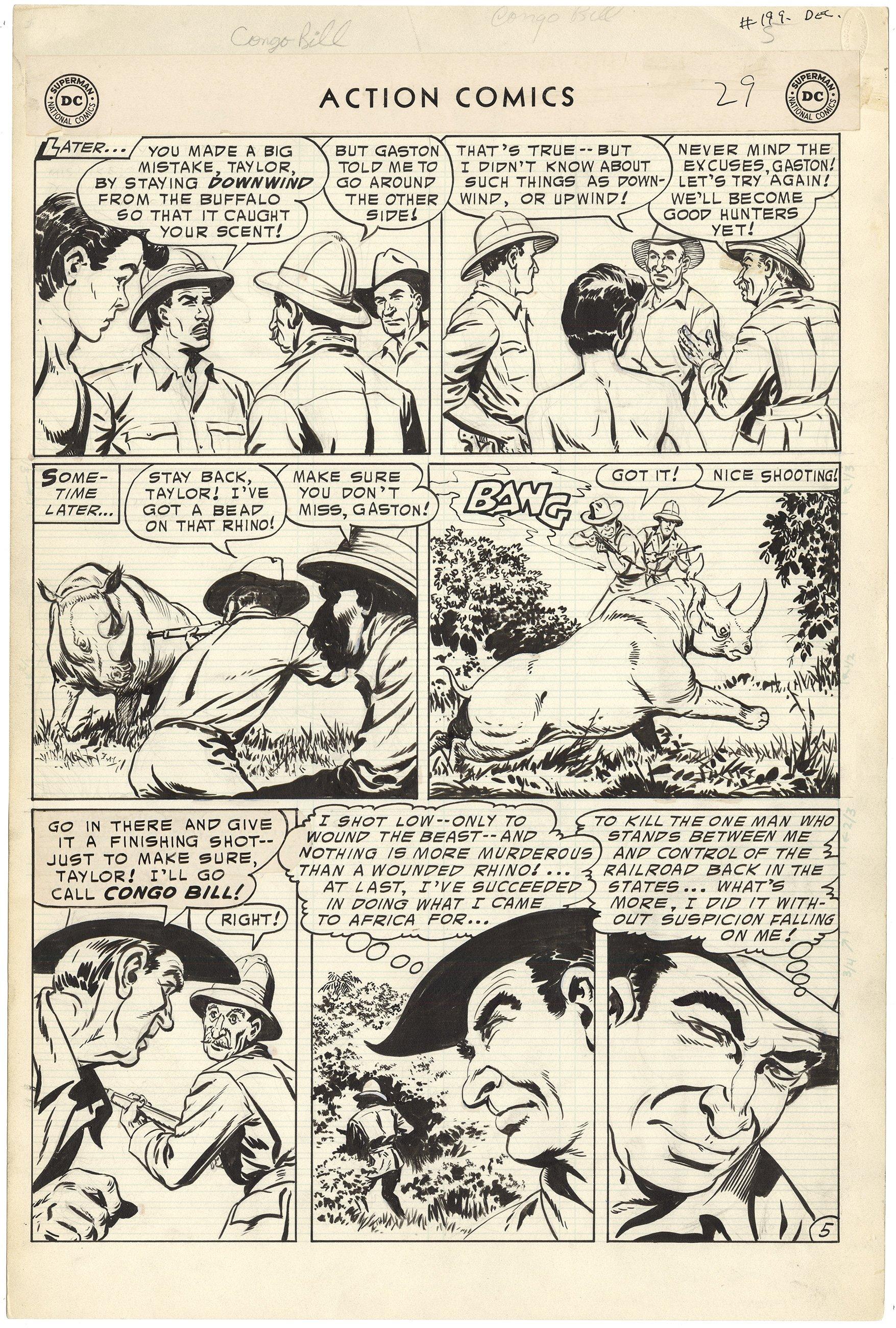 Action Comics #199 p5 (Large Art)(Congo Bill)