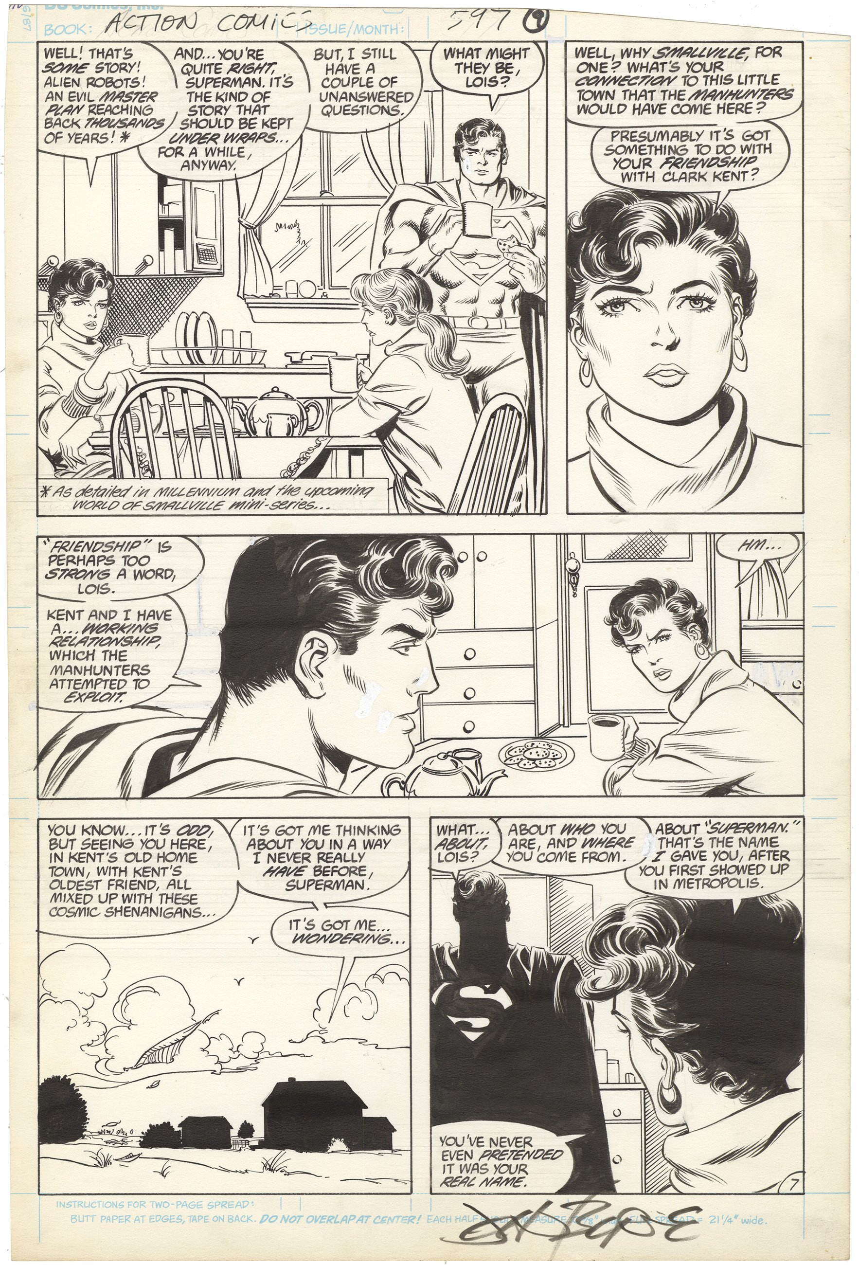 Action Comics #597 p7 (Signed)