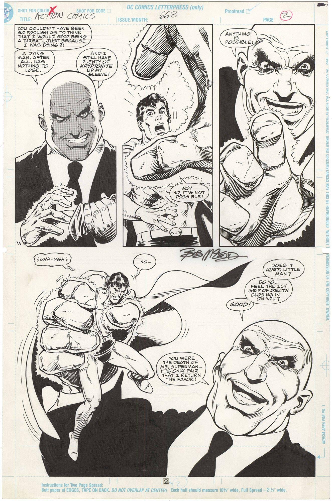 Action Comics #668 p2 (Half Splash-Signed)