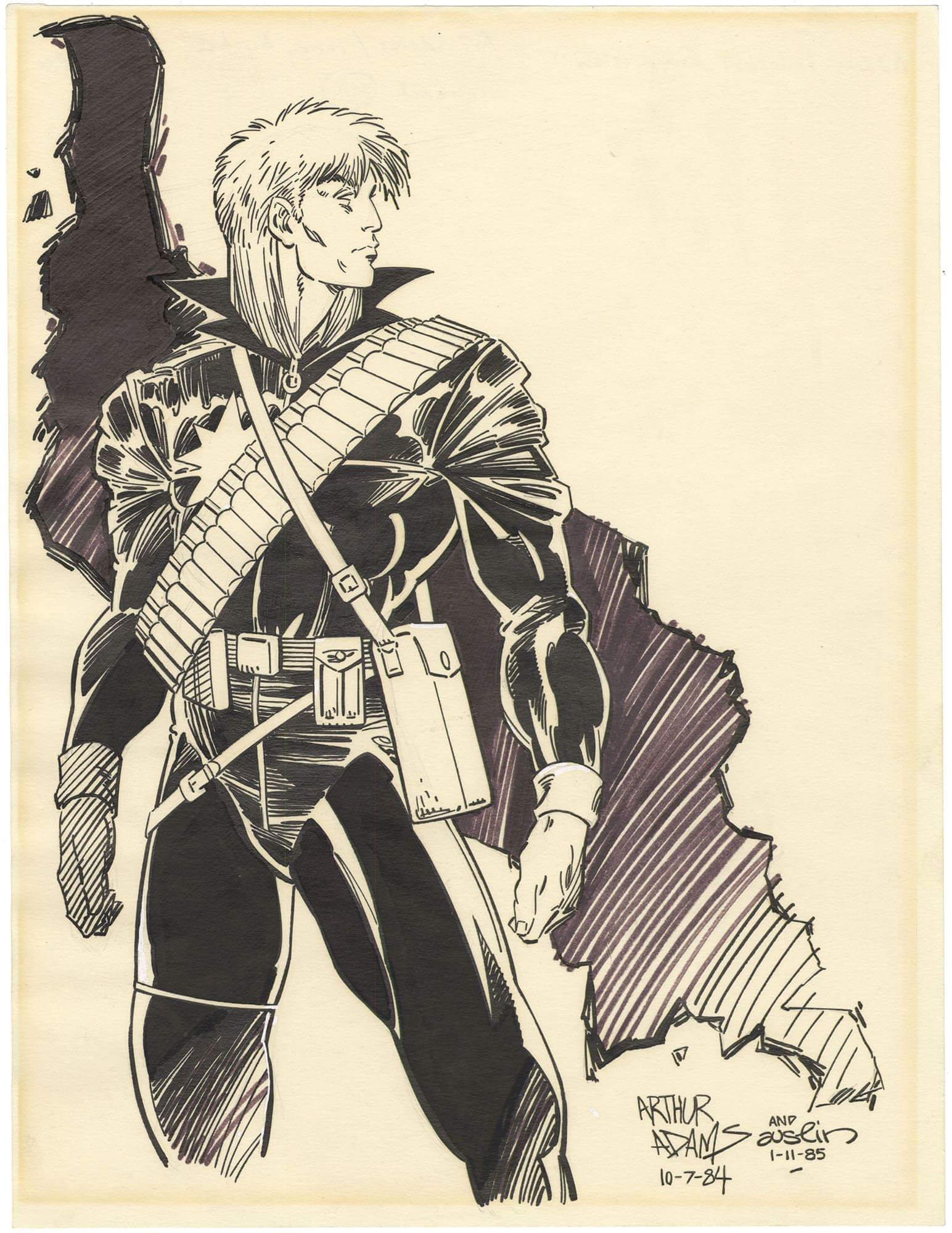 Longshot Illustration - Arthur Adams  (Predates First Appearance by a year)