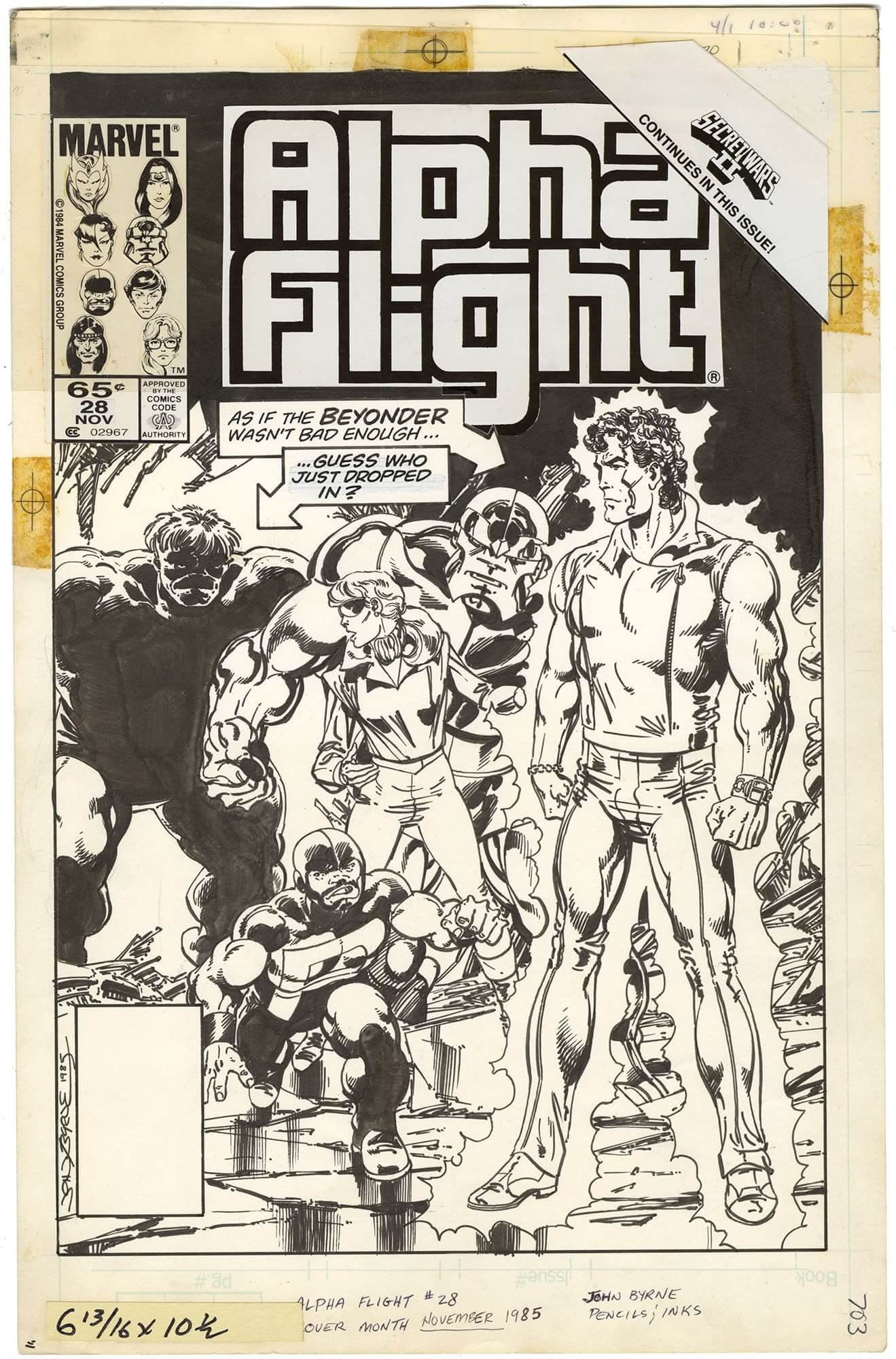 Alpha Flight #28 Cover