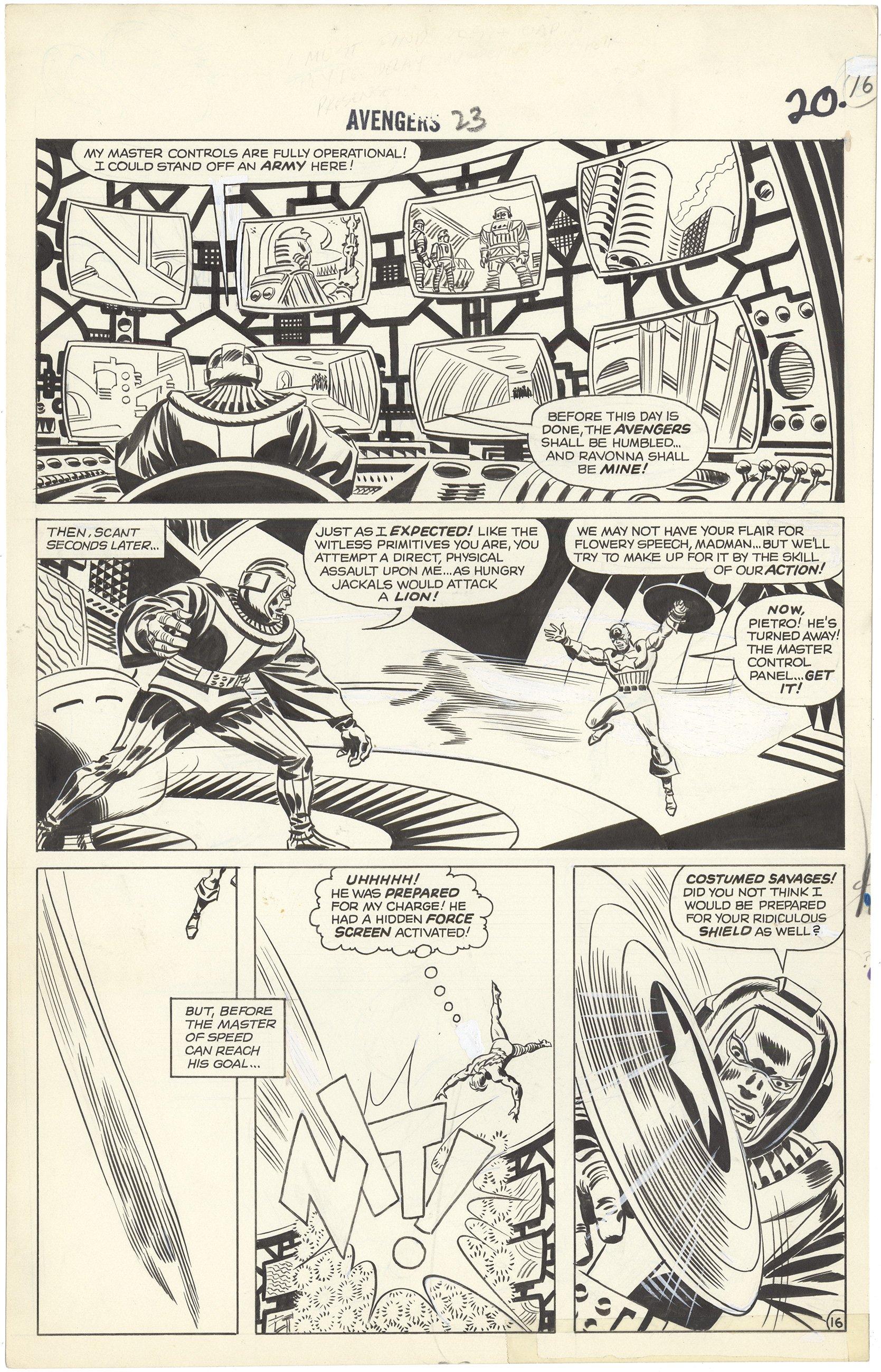 Avengers #23 p16 (First Romita)
