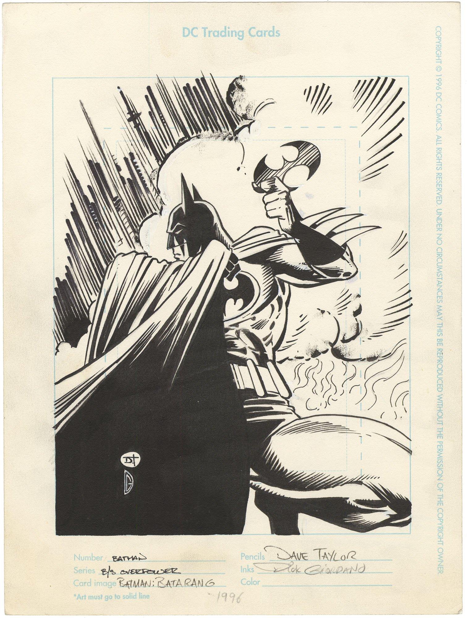Overpower Batman Batarang Trading Card
