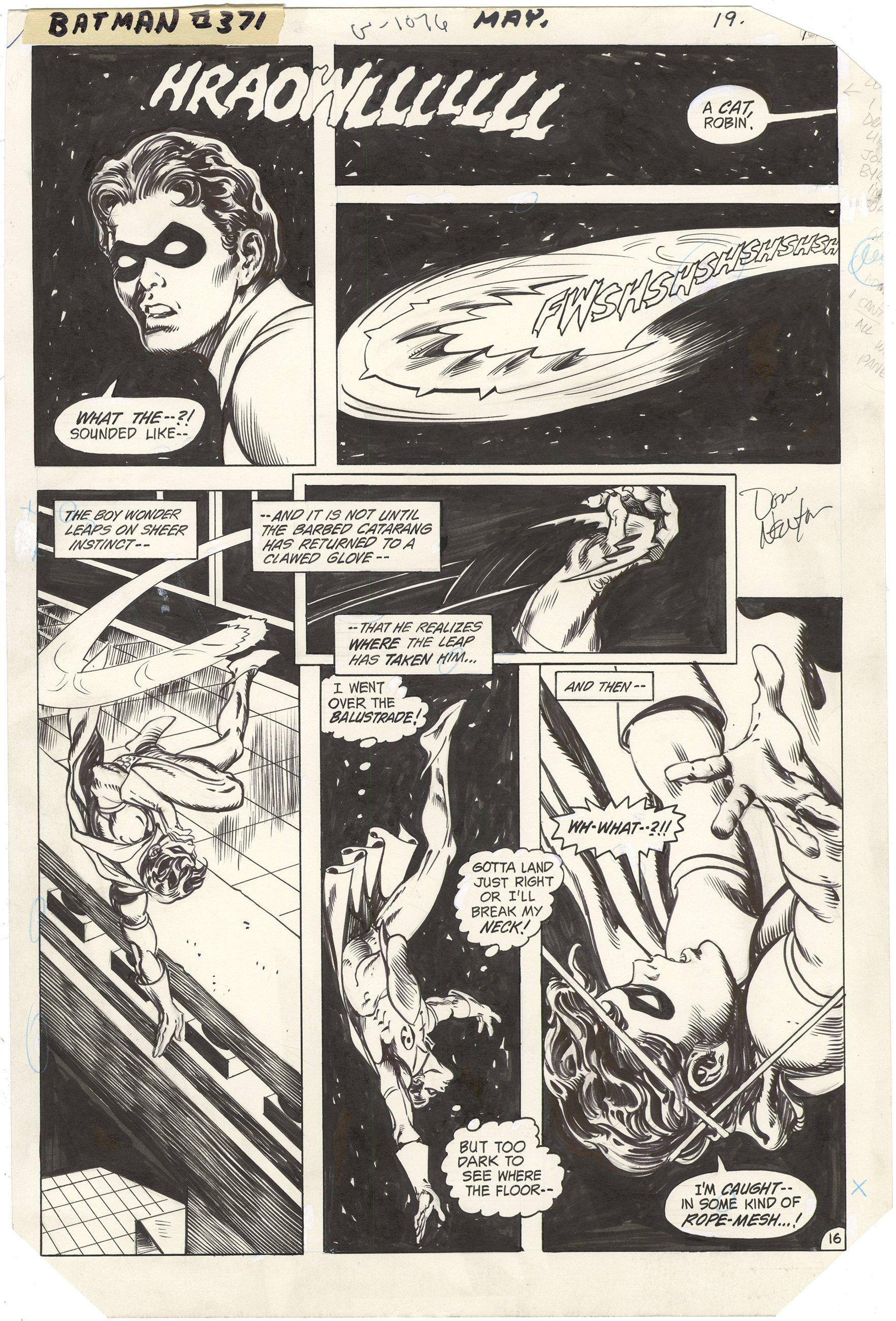 Batman #371 p16 (Signed)