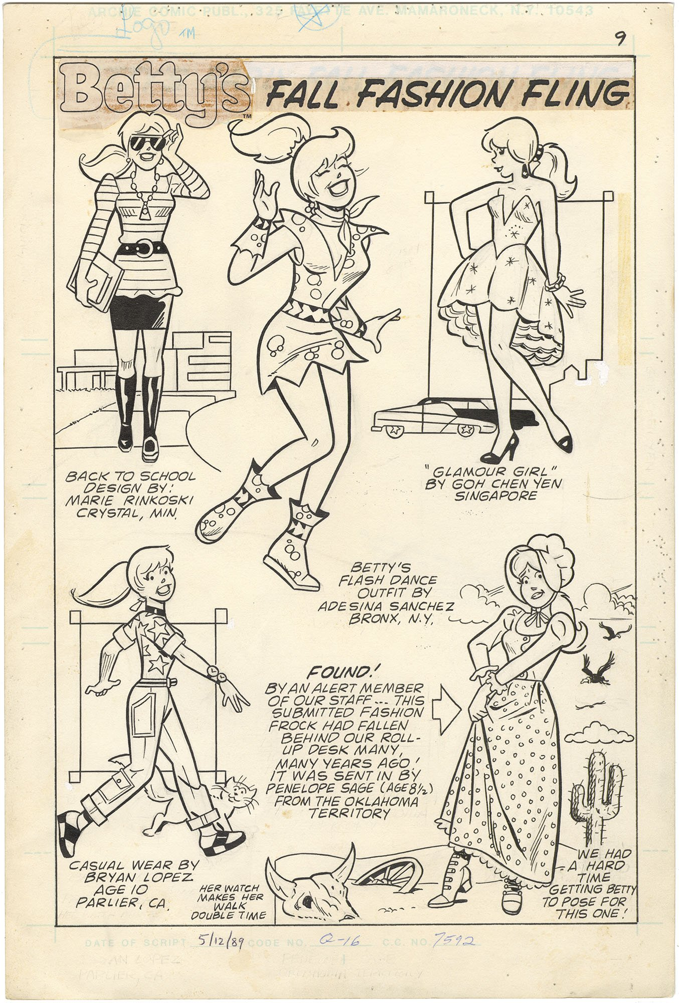 Betty's Diary (Betty's Fall Fashion Fling) (Splash)  #30 p1