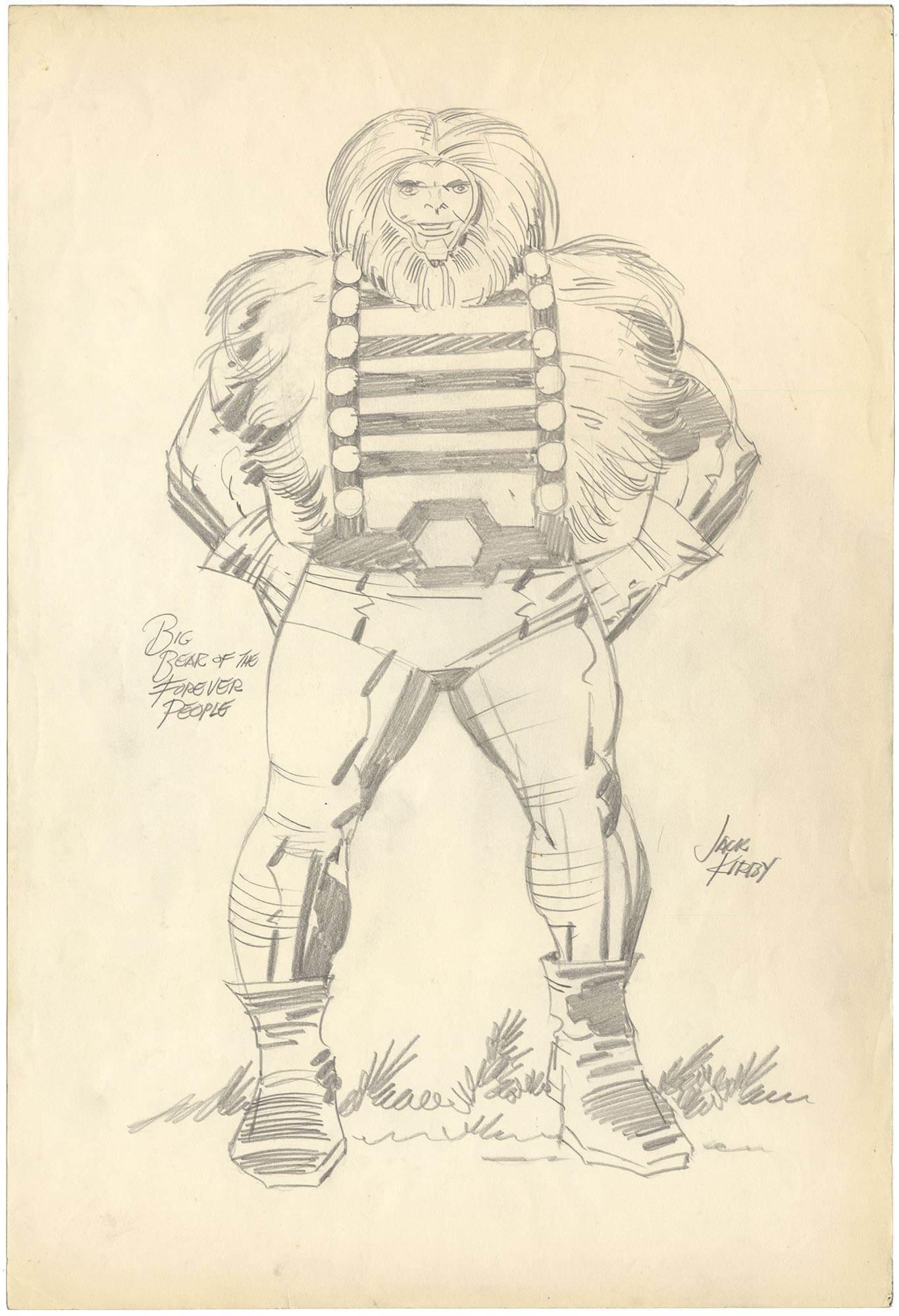 Big Bear Pencil - Signed Kirby