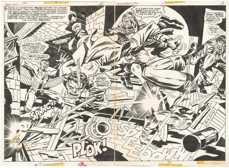 Captain America #199 p2-3 (Spread)(Signed)