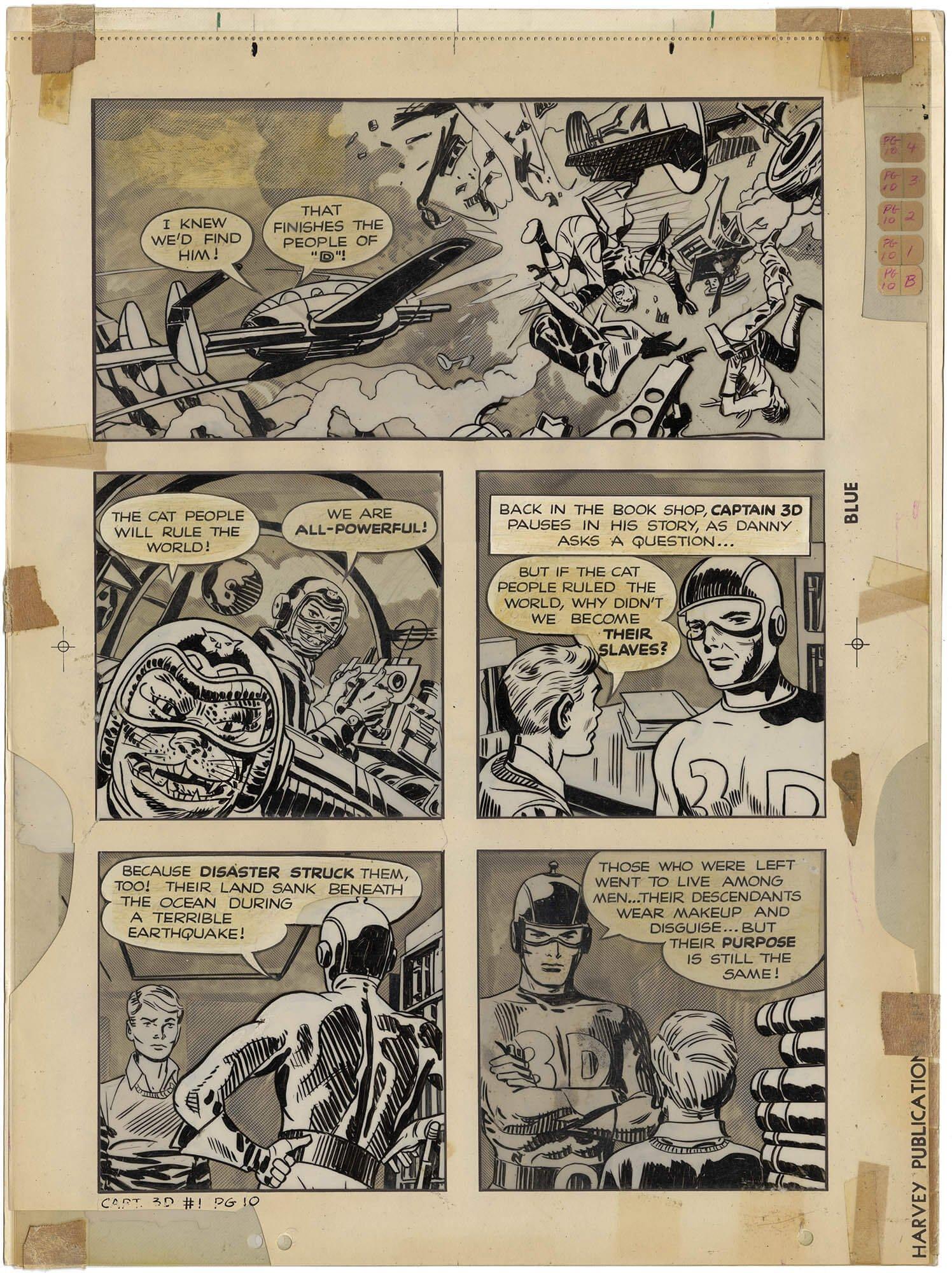 Captain 3-D #1 p10 (Large Art)