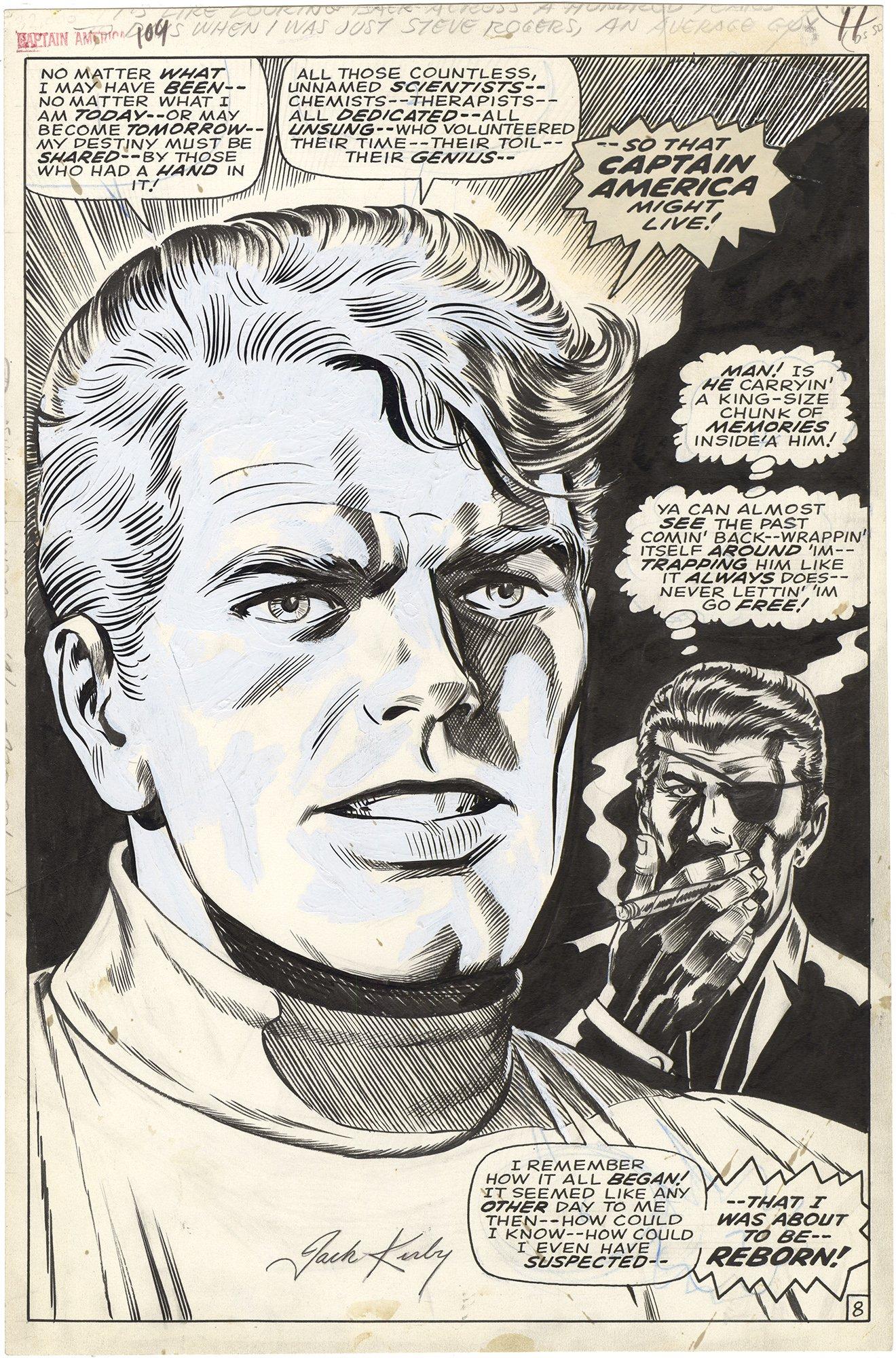 Captain America #109 p8 (Cap-Origin)(Signed)