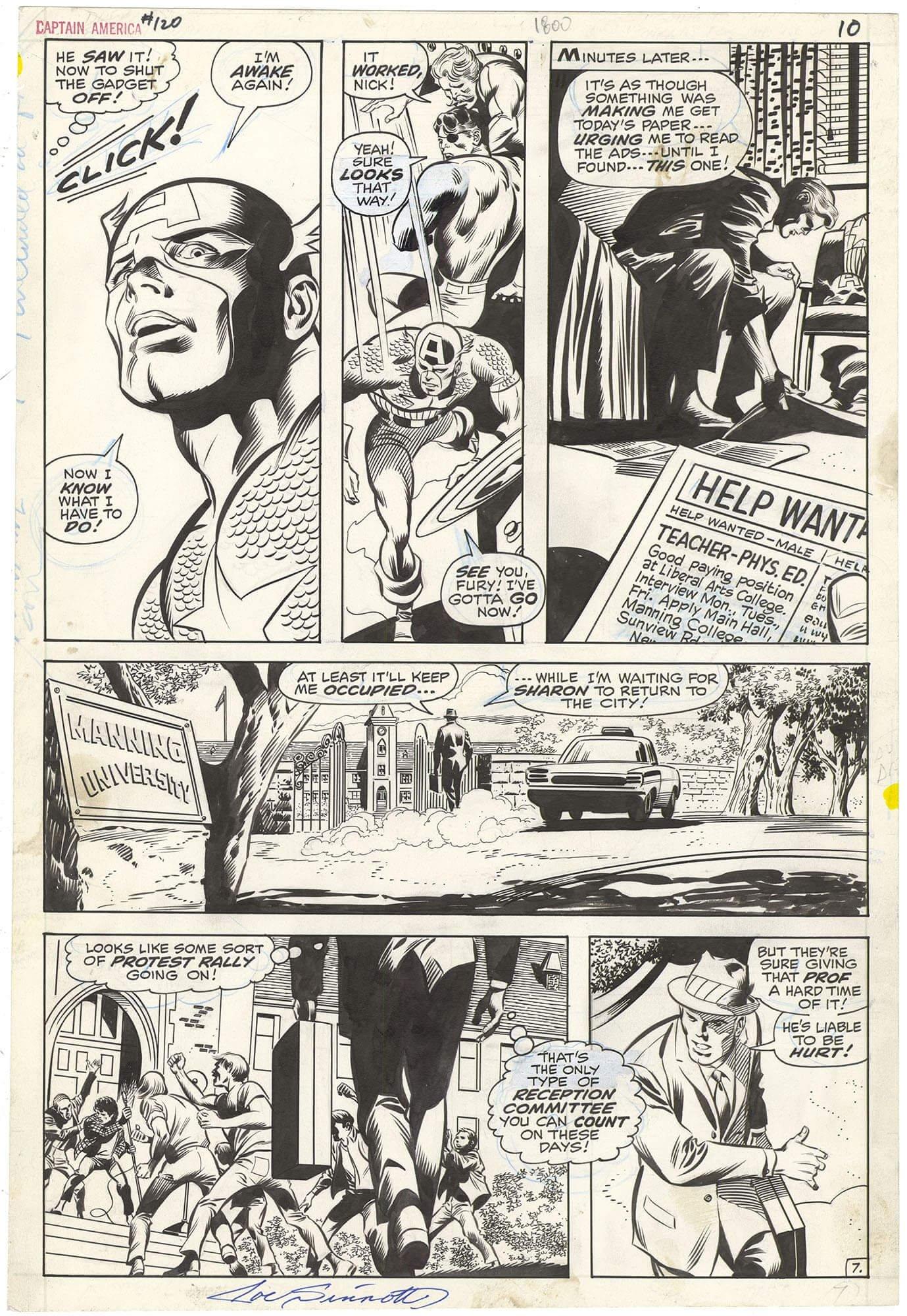 Captain America #120 p7 (Signed)