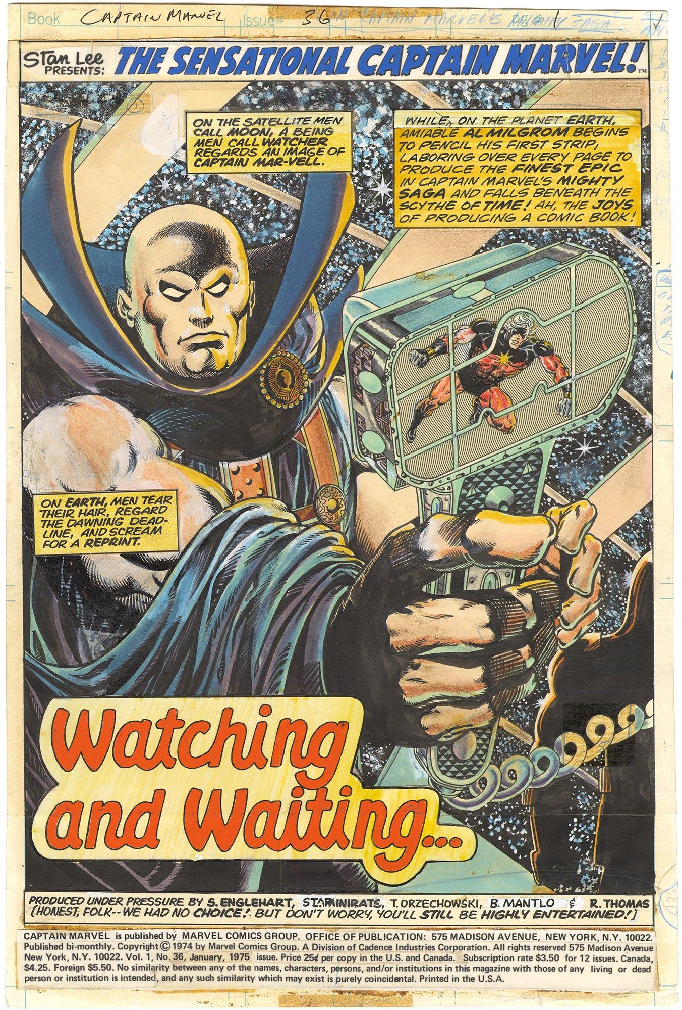 Captain Marvel #36 p1 (Splash)