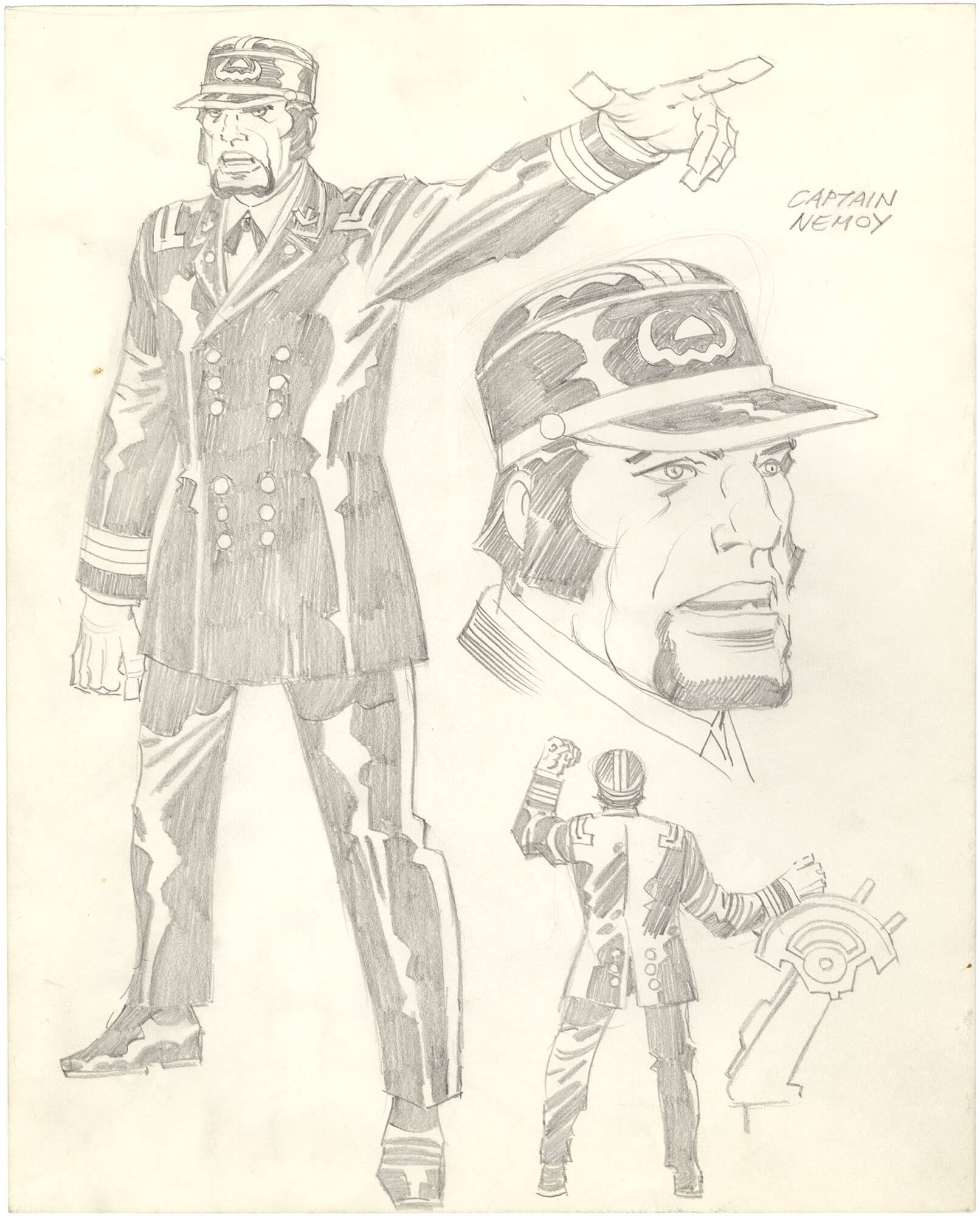 Jack Kirby - Captain Nemo Animation Character Sheet