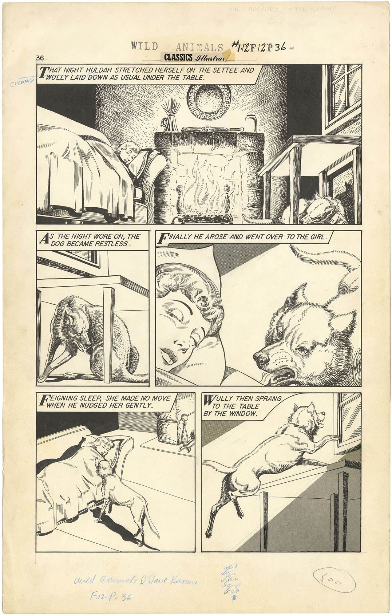 Classics Illustrated #152 p36 (Wild Animals)(Large Art)