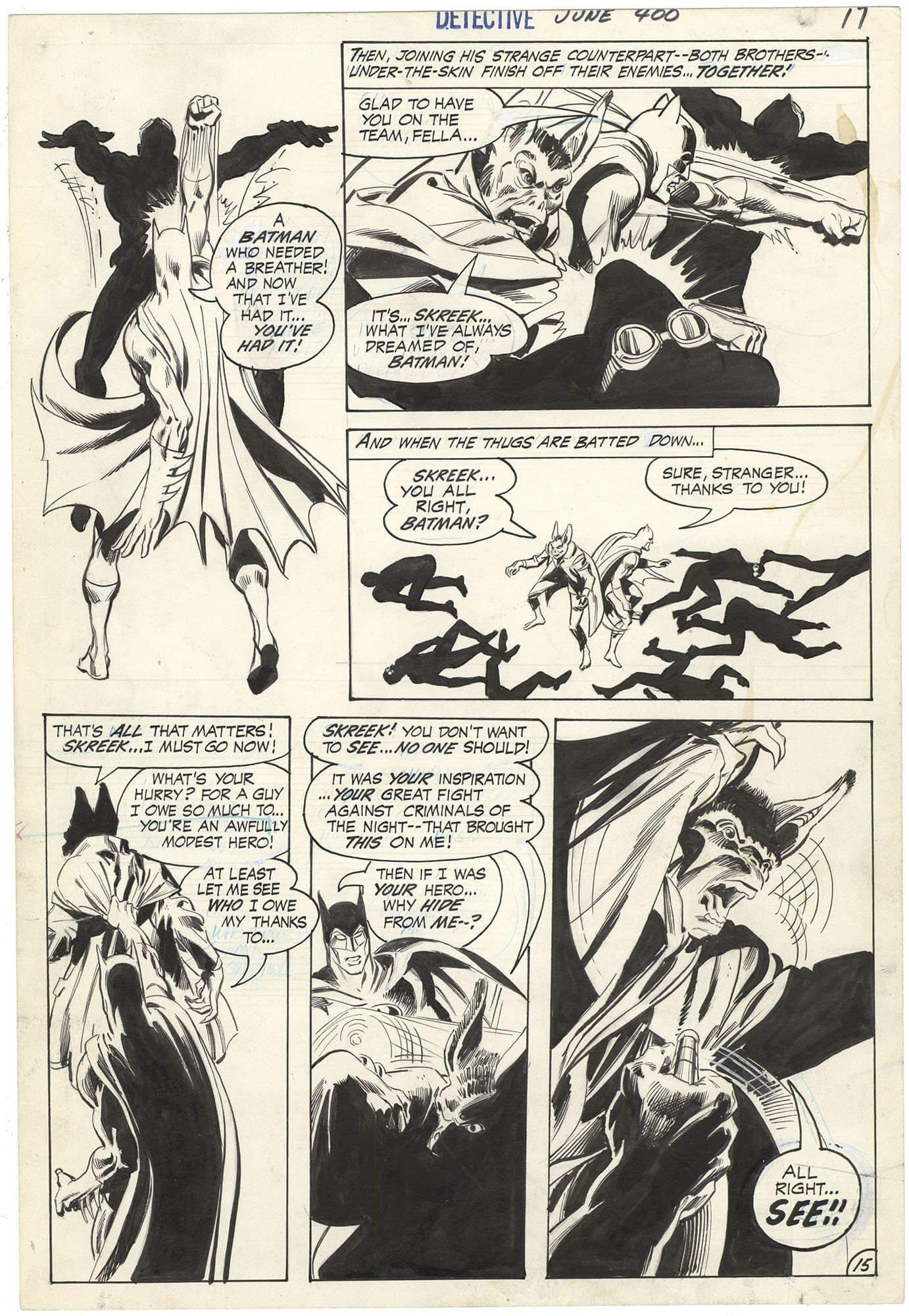 Detective Comics #400 p15 (Man-Bat Origin-Introduction)