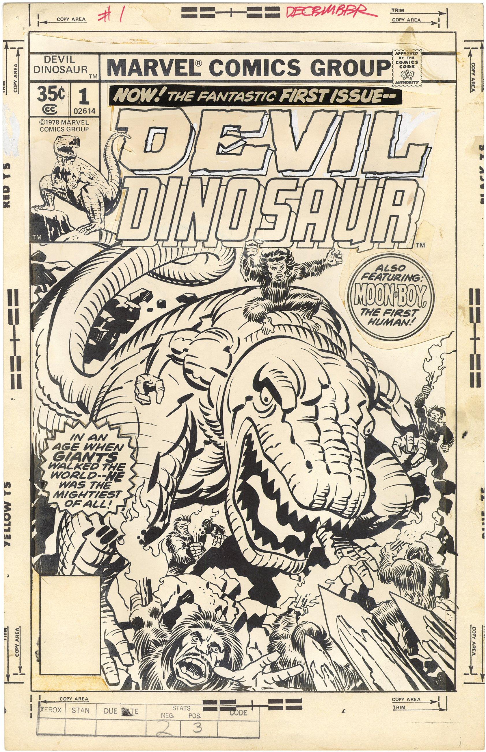Devil Dinosaur #1 Cover (Stat)