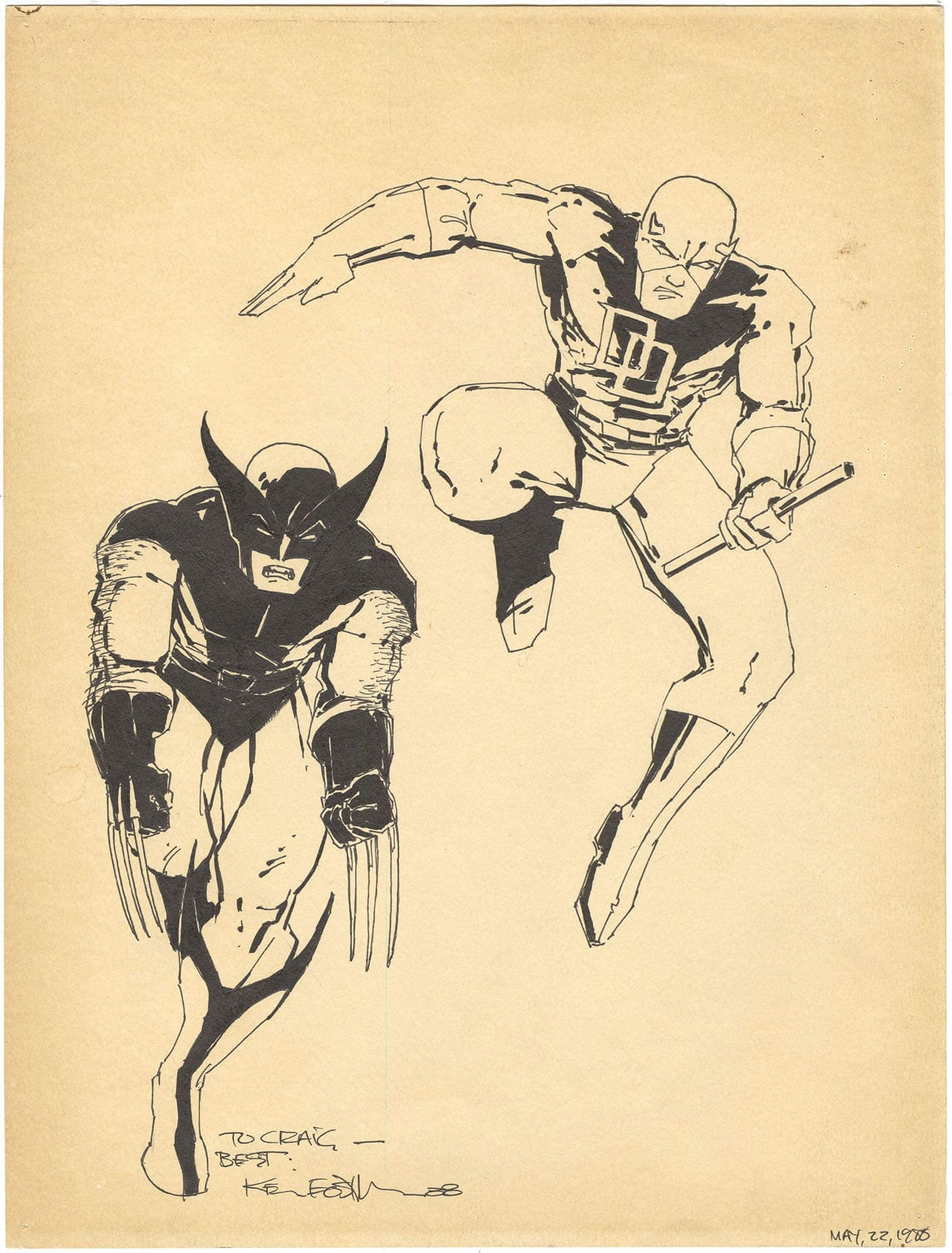 Kevin Eastman - Daredevil and Wolverine Commission