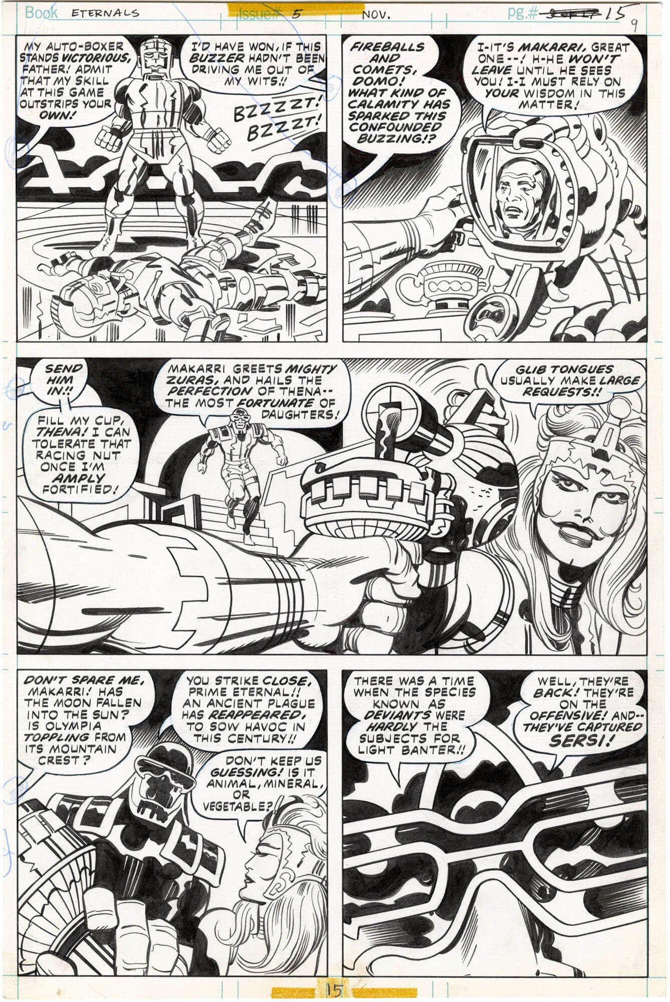 Eternals #5 p15 (First Thena Appearance - Played by Angelina Jolie)