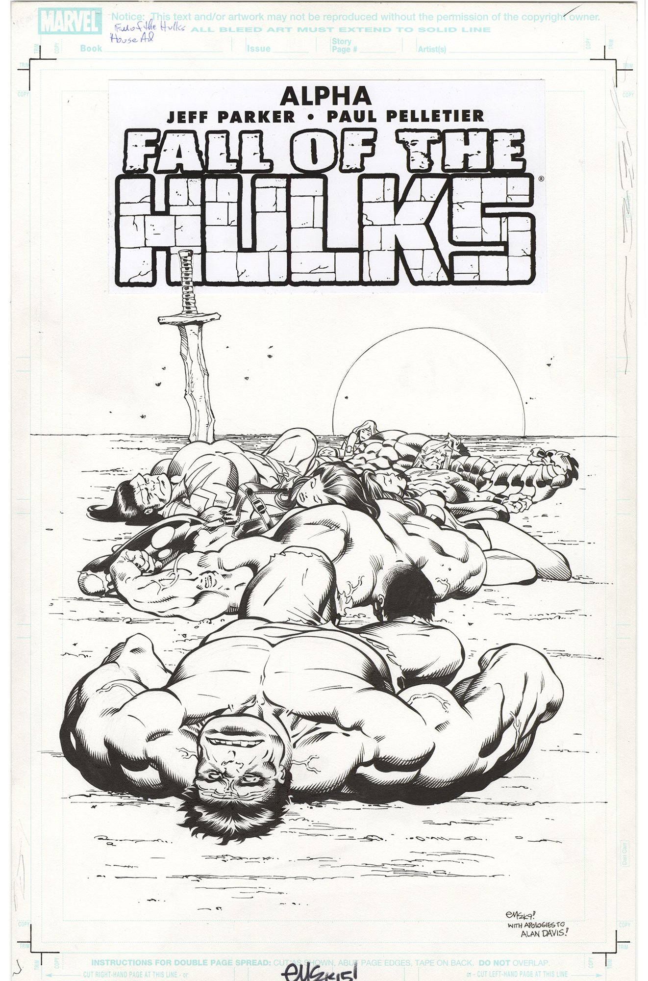 Alpha Fall of the Hulks #1 Variant Cover