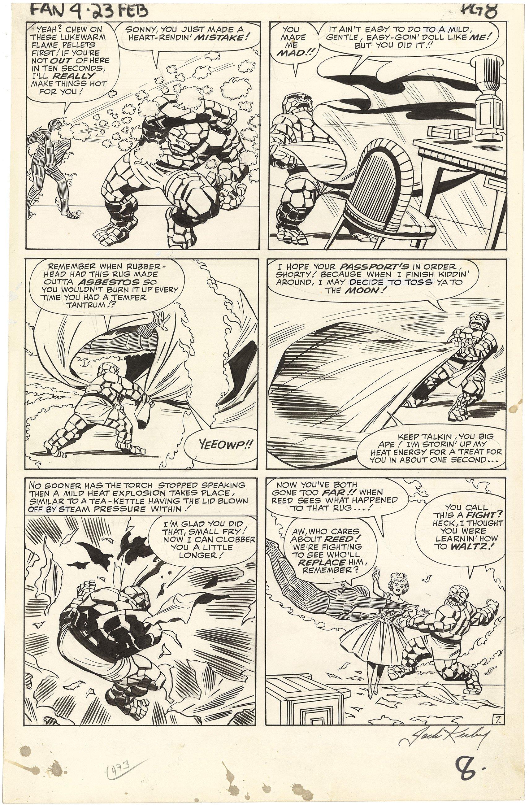 Fantastic Four #23 p7 (Large Art, Signed)