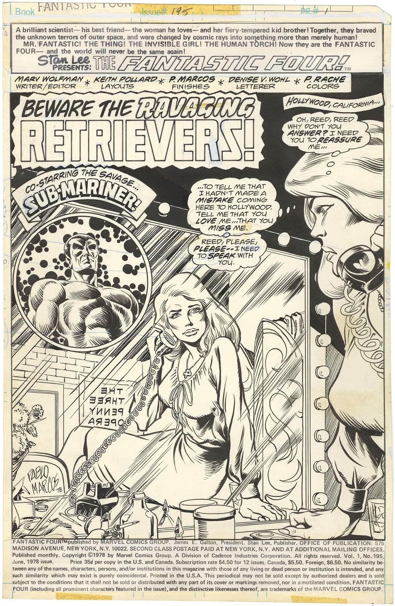 Fantastic Four #195 p1 (Splash)
