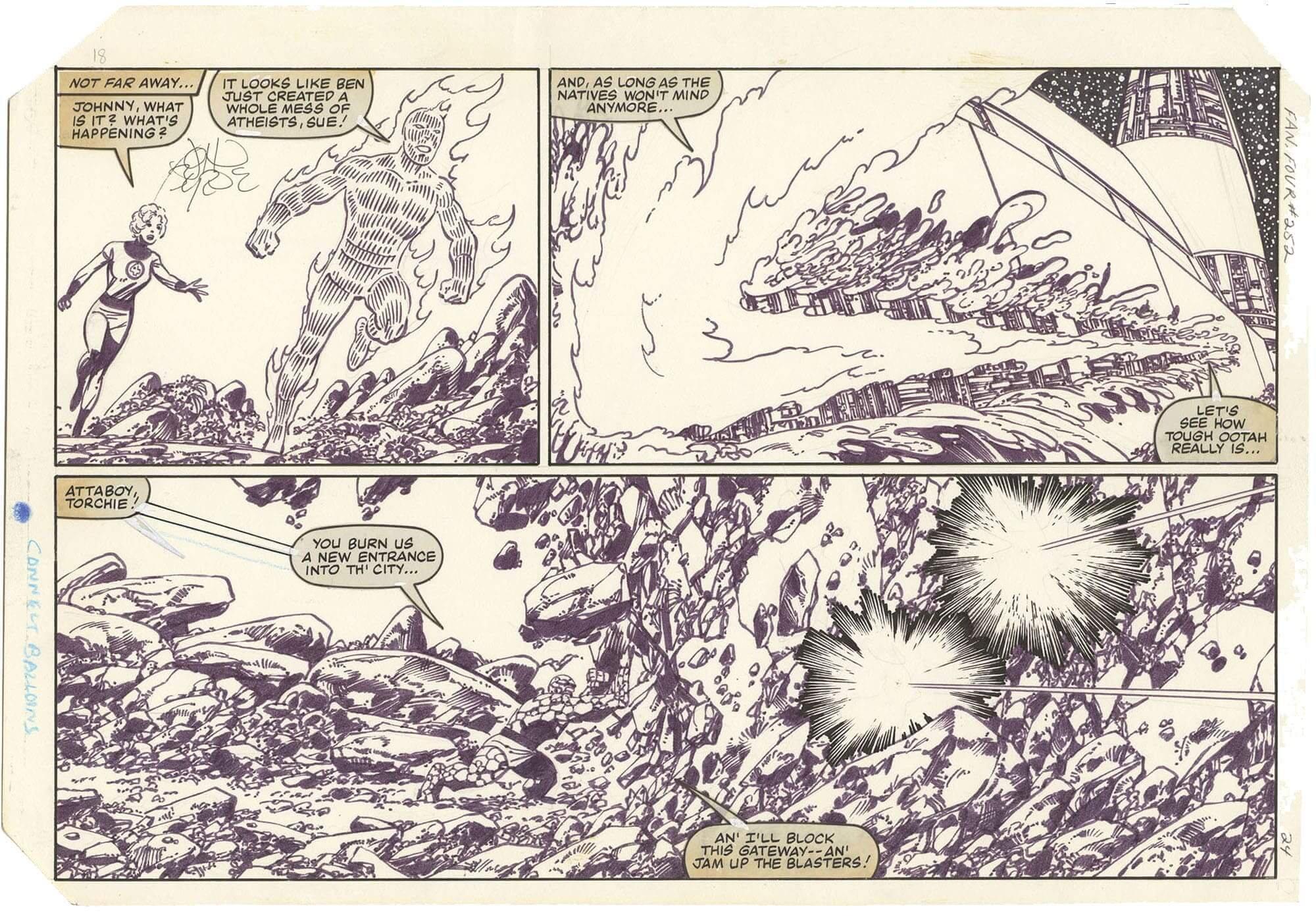Fantastic Four #252 p24 (½ Splash)(Signed)