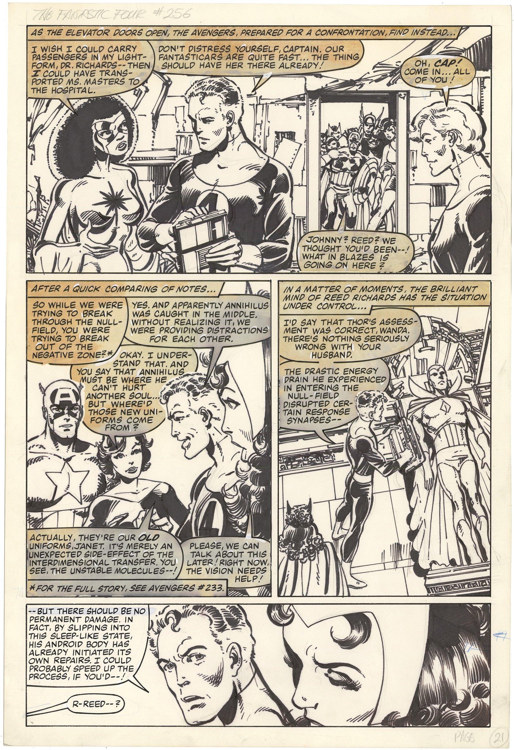 Fantastic Four #256 p21 (Large Art)
