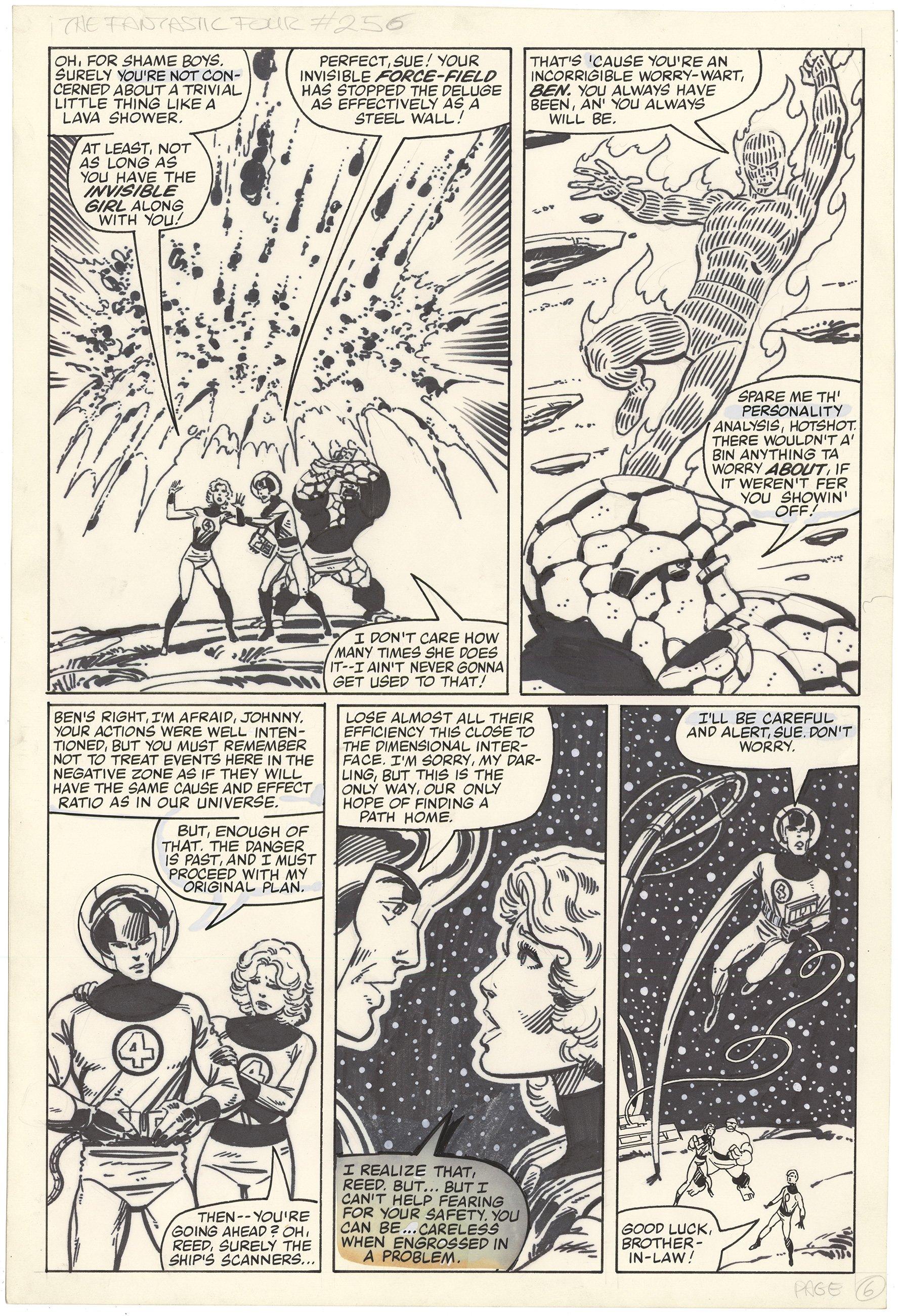 Fantastic Four #256 p6 (Large Art)