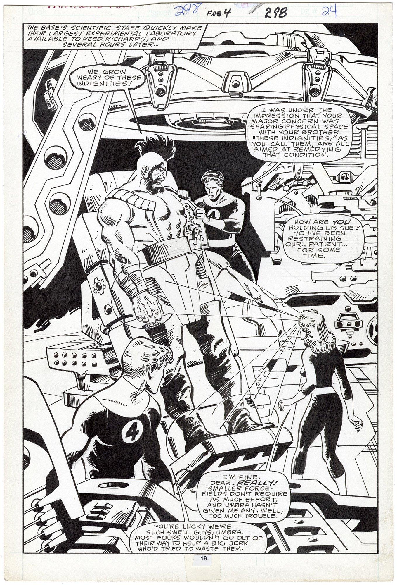 Fantastic Four #298 p18 (Splash)