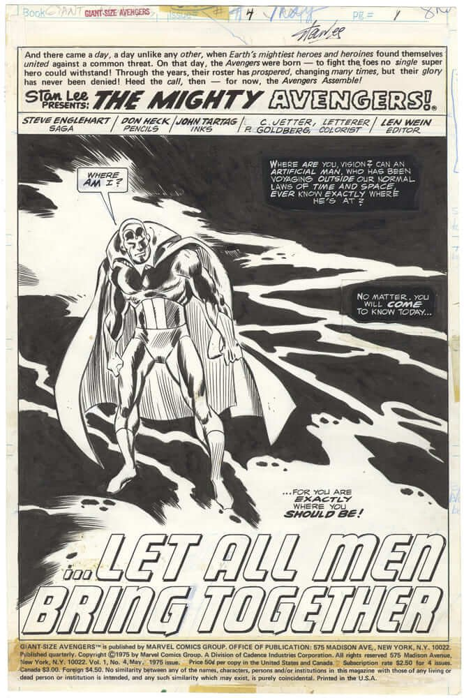 Giant-Size Avengers #4 p1 (Splash)(Stan Lee-Signed)