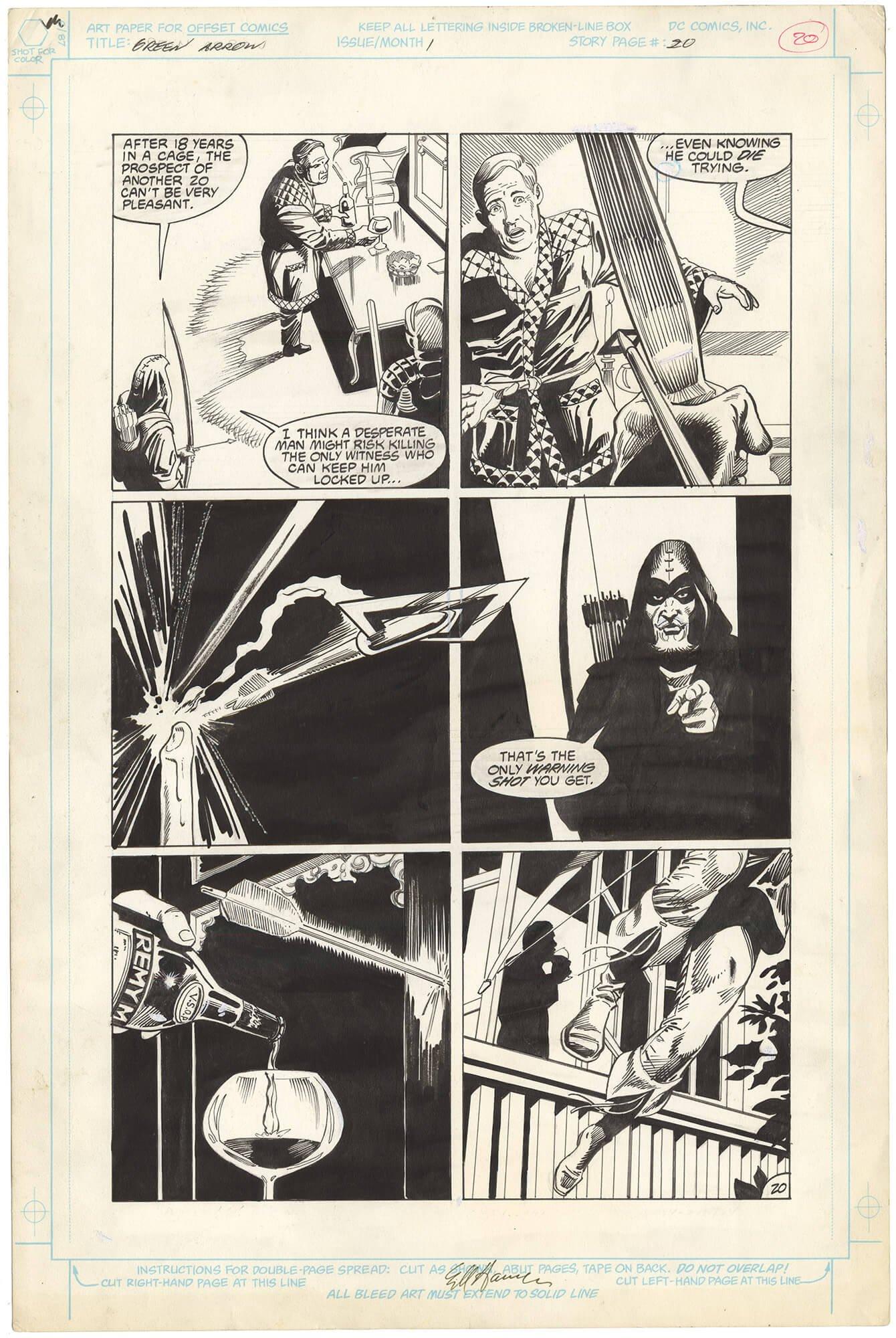 Green Arrow #1 p20 (Signed-Large Art)