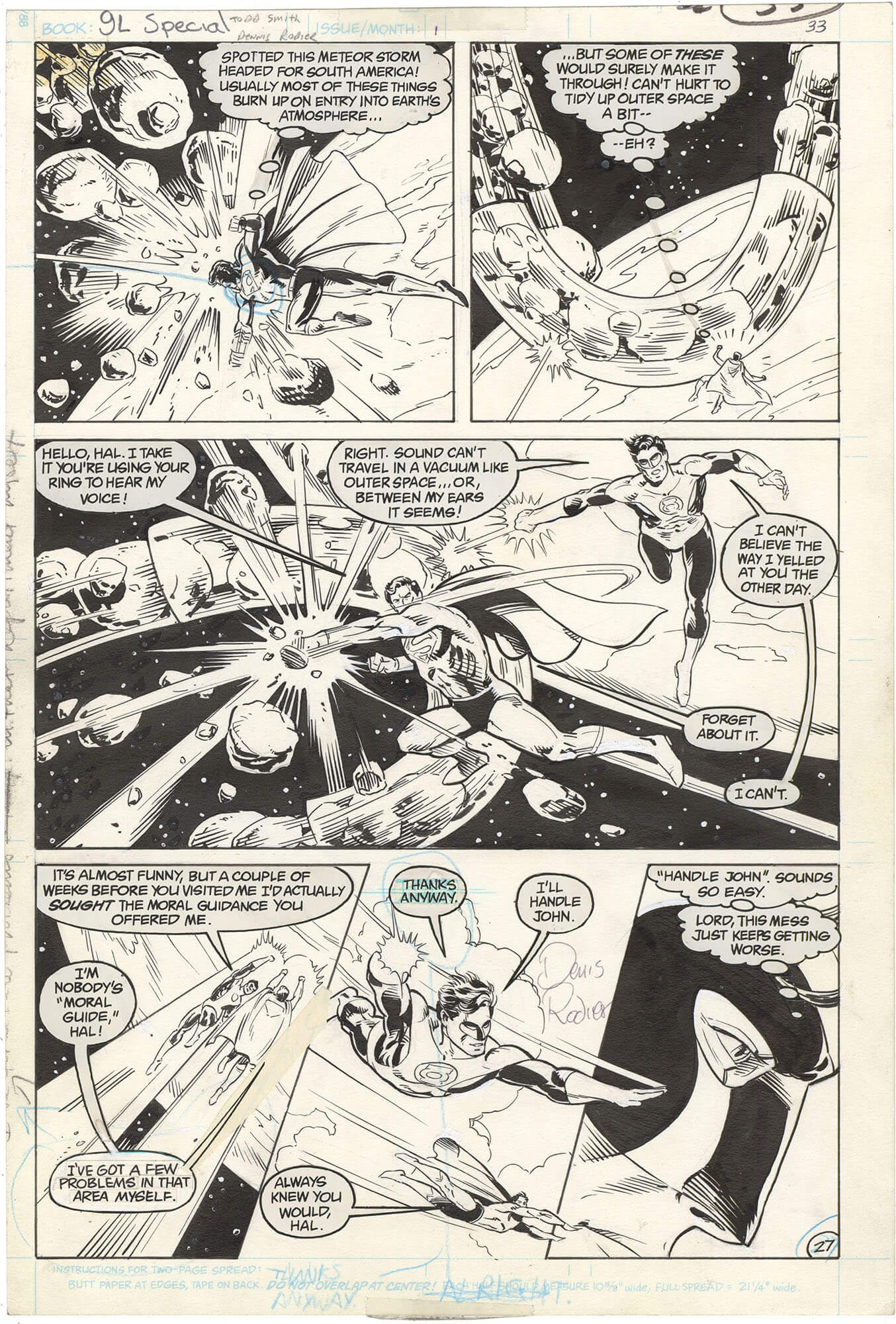 Green Lantern Special #1 p27 (Signed)