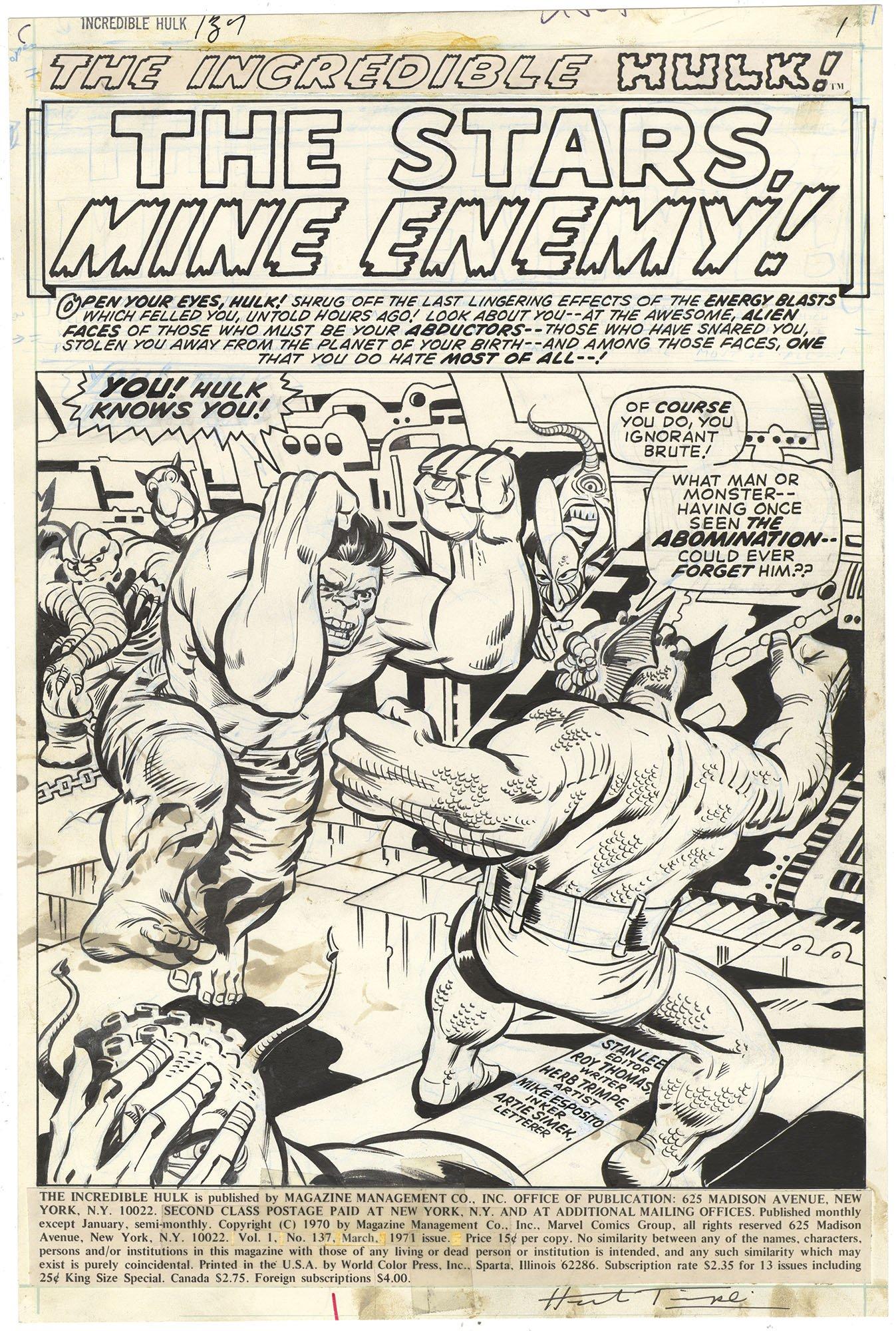 Incredible Hulk #137 p1 (Signed)