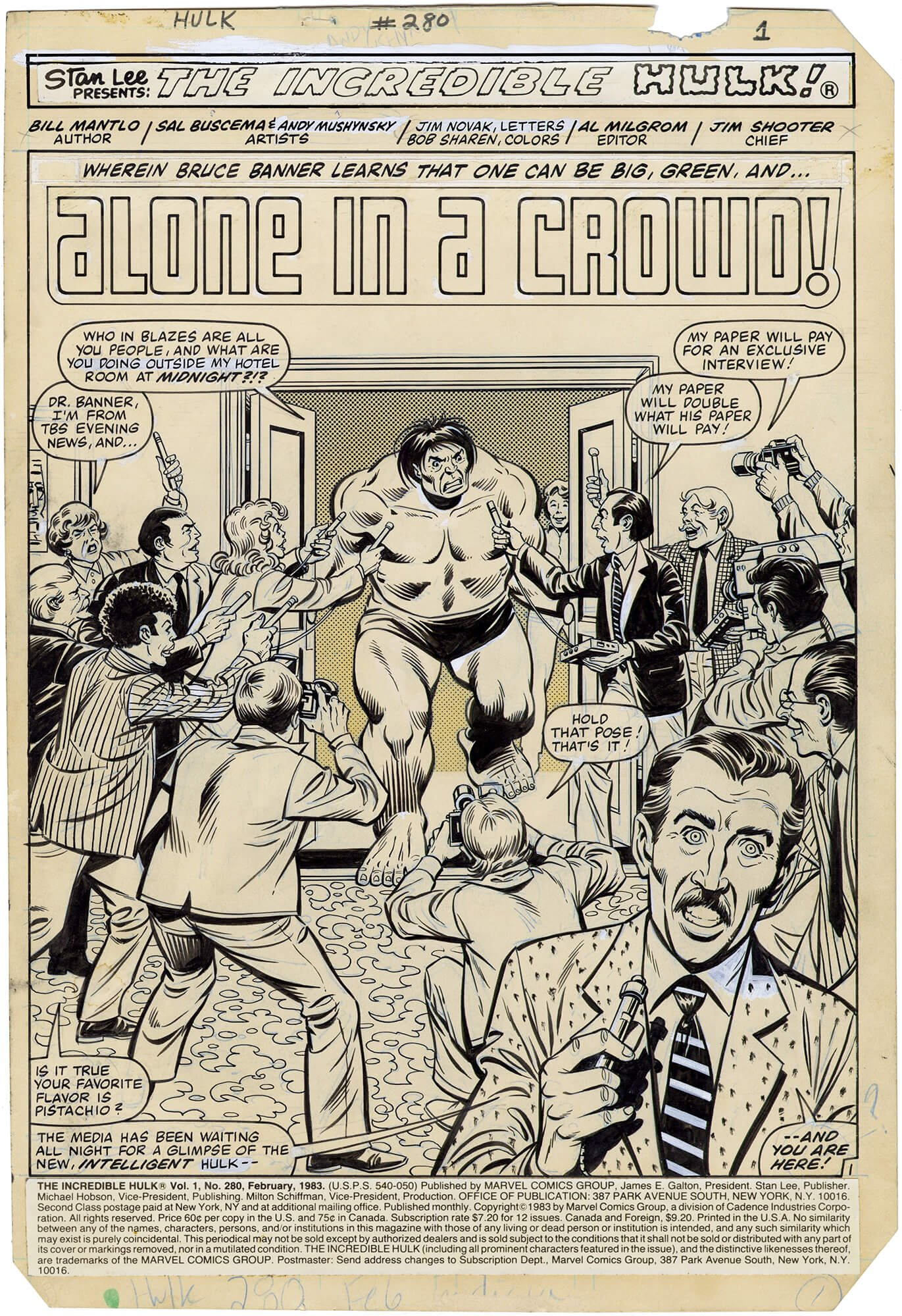 Incredible Hulk #280 p1 (Splash)