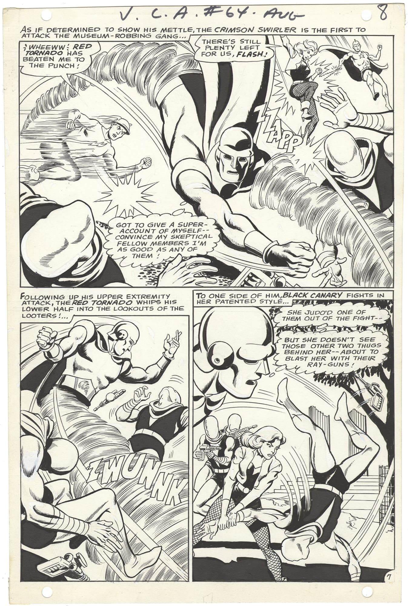 Justice League of America #64 p7 (½ Splash)