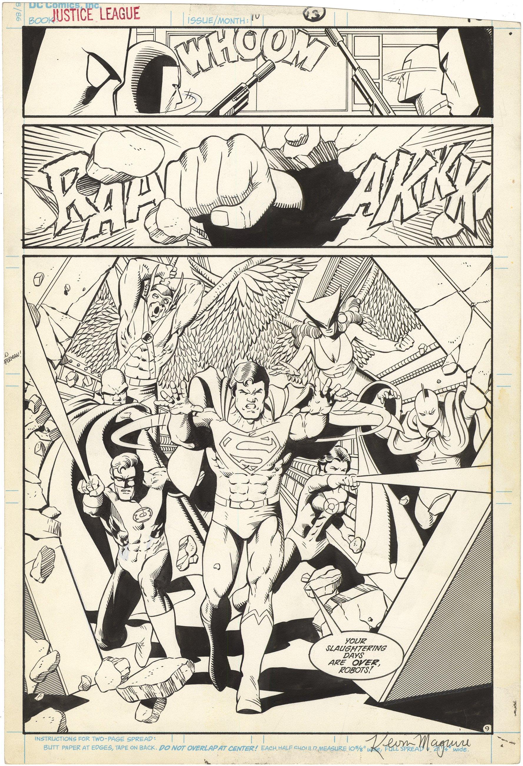Justice League International #10 p9 (Signed) (Splash)
