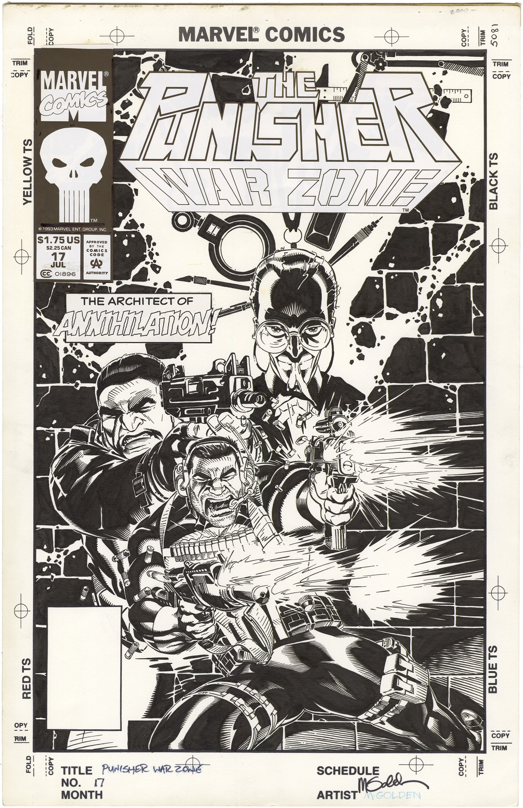 Punisher War Zone #17 Cover