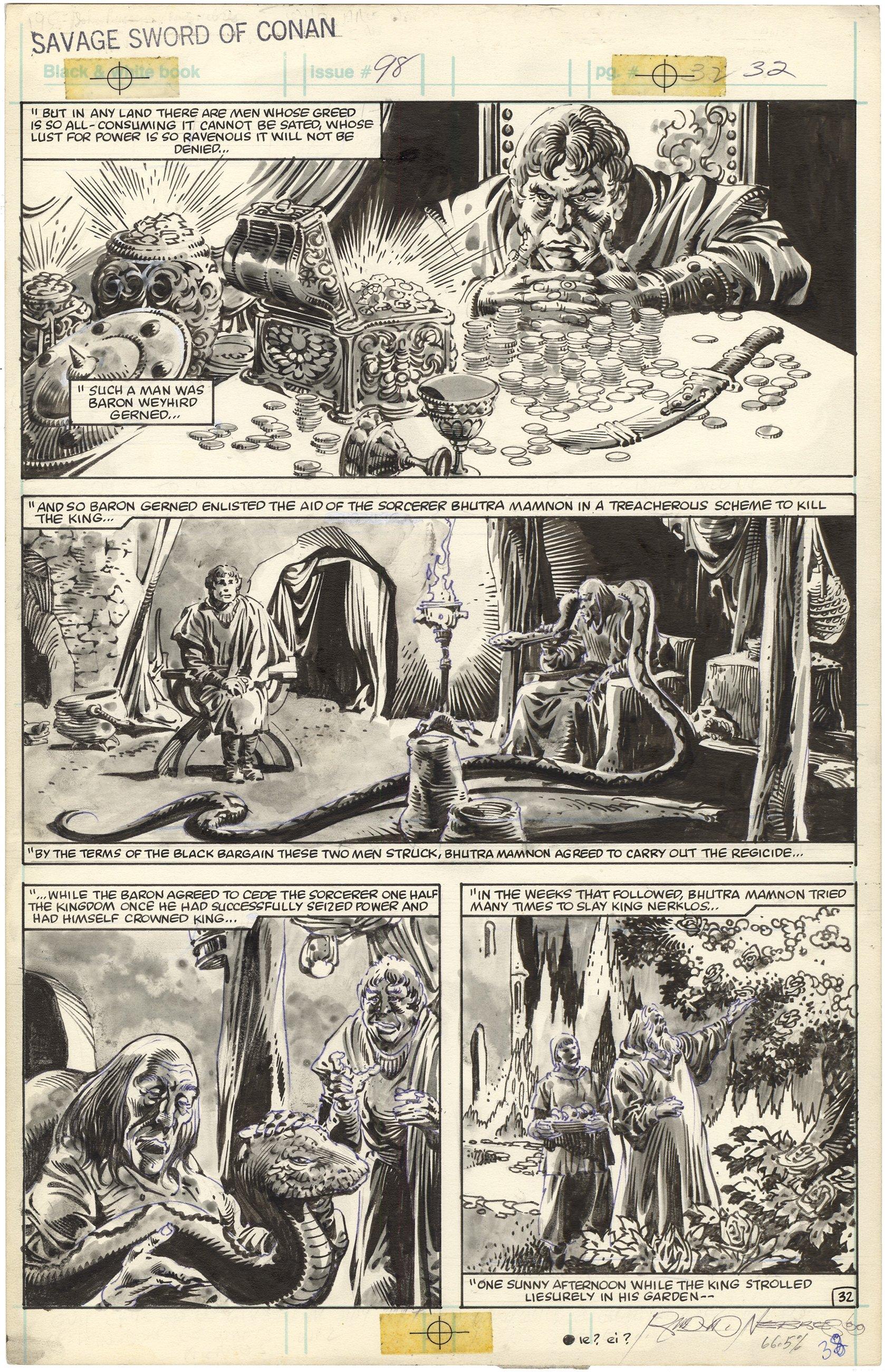 Savage Sword of Conan #98 p32 (Signed)
