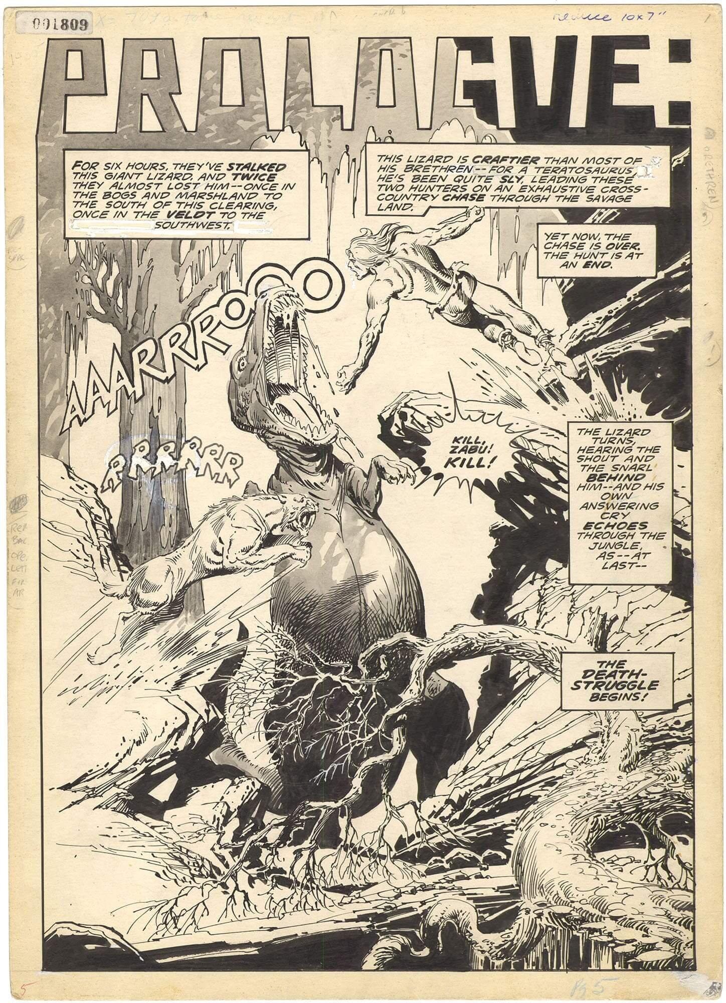 Savage Tales #9 p5 (Splash) (Kazar)