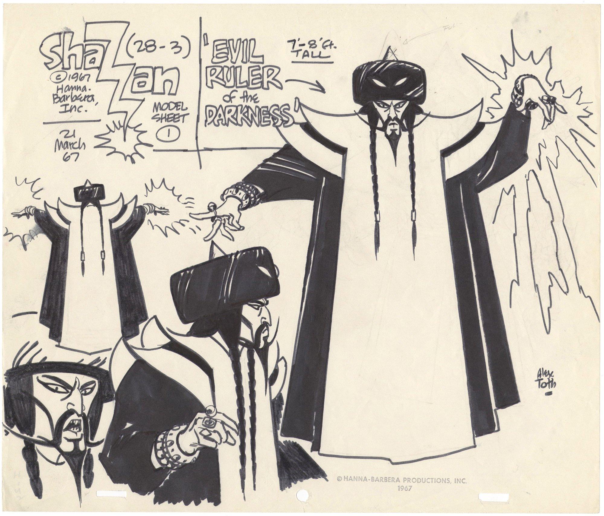 Shazzan Model Sheet Hanna-Barbera Inc. (28-3)