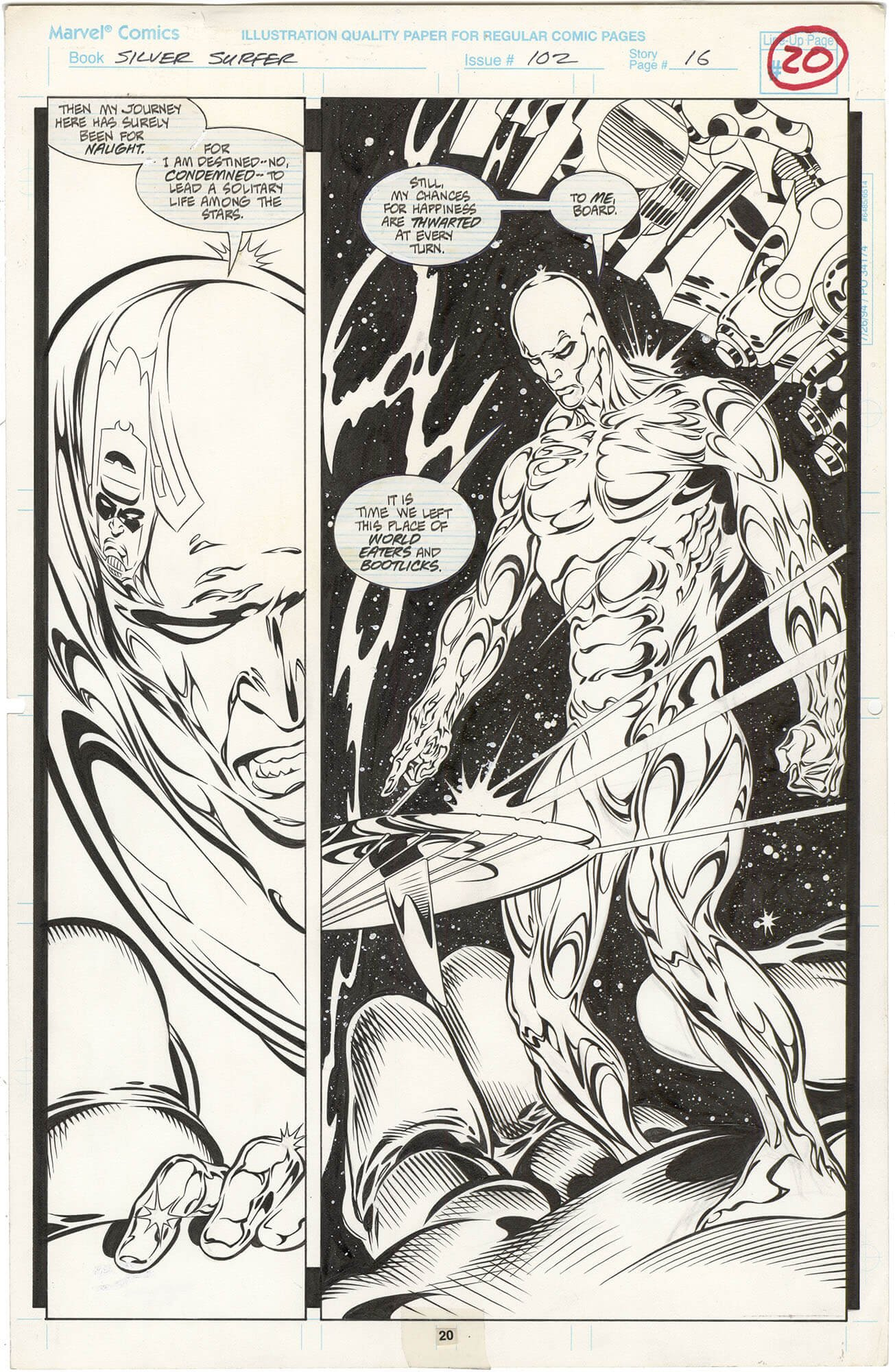 Silver Surfer #102 p20 (⅔ Splash)