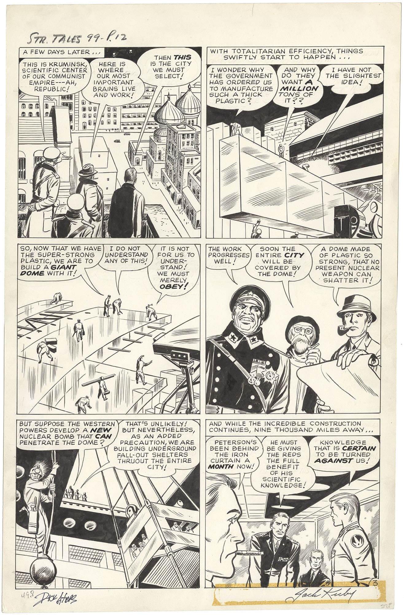 Strange Tales #99 p3 (Large Art - Signed)