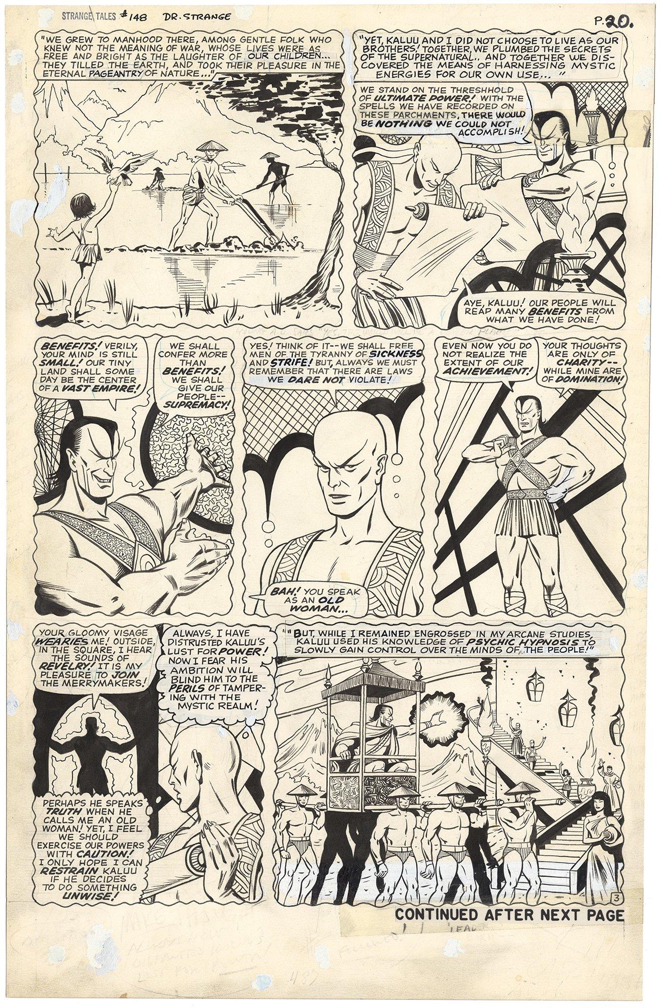 Strange Tales #148 p3 (Origin Ancient One)