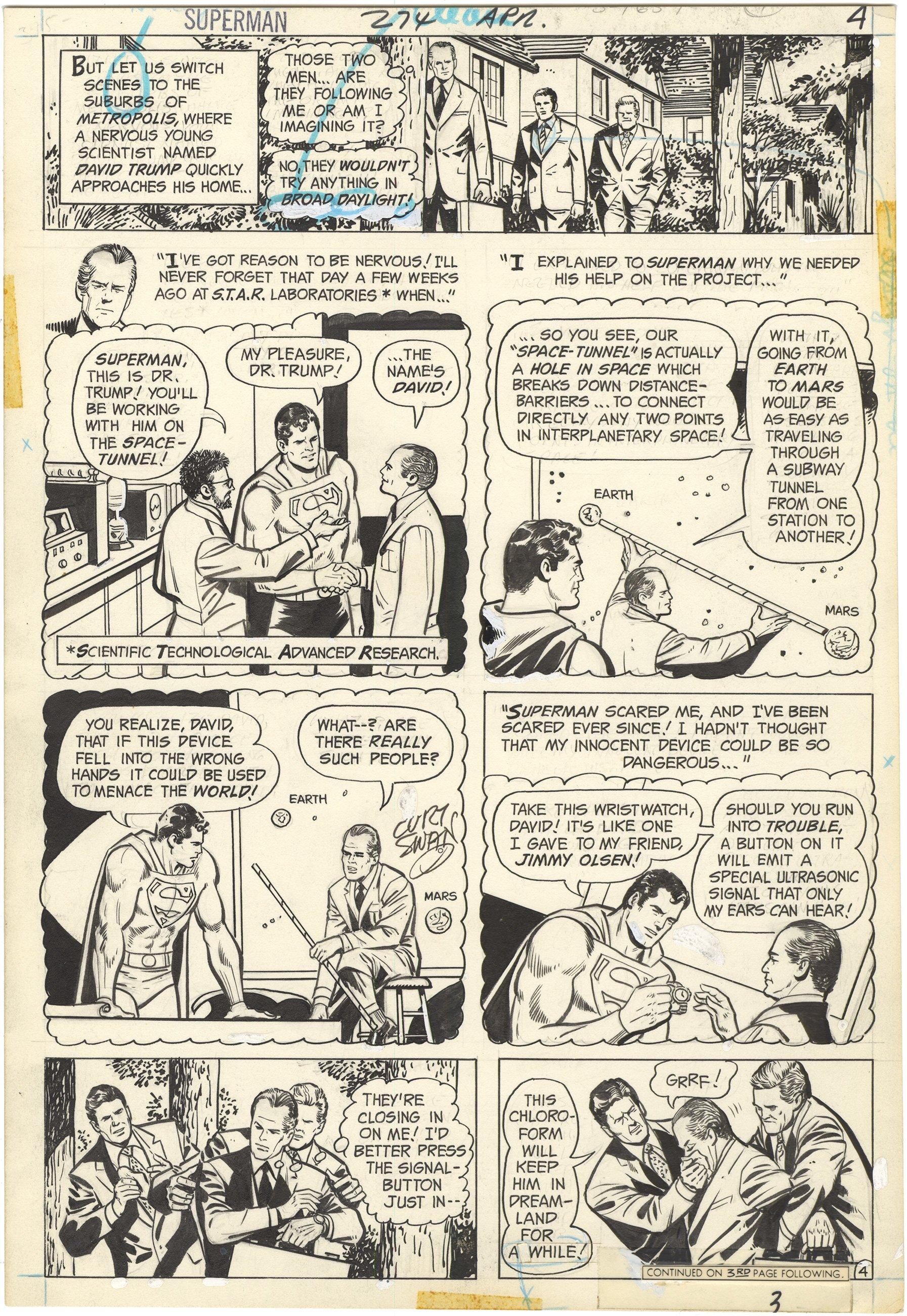 Superman #274 p4 (Signed)