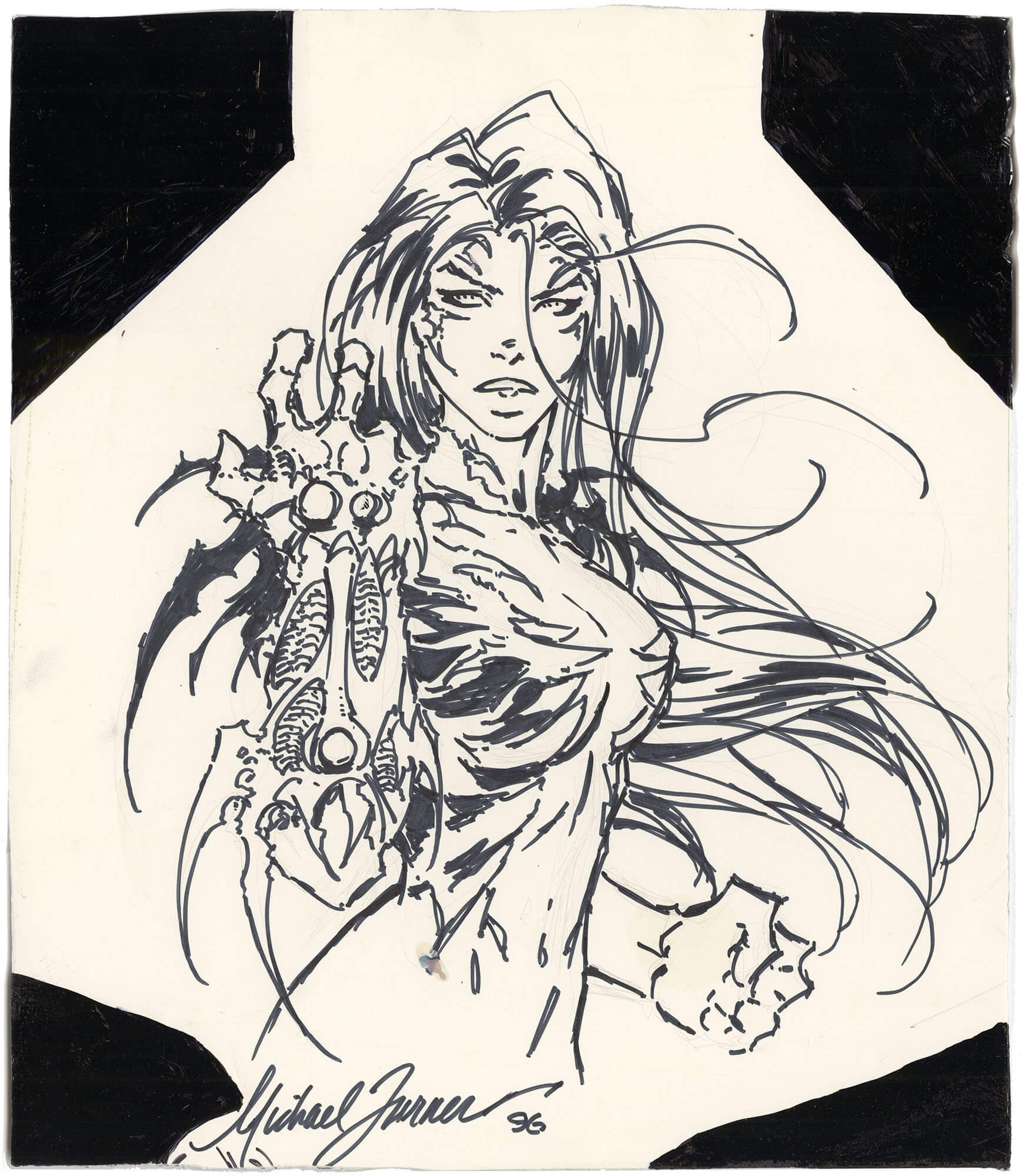 Michael Turner Witchblade Illustration (Very Early)