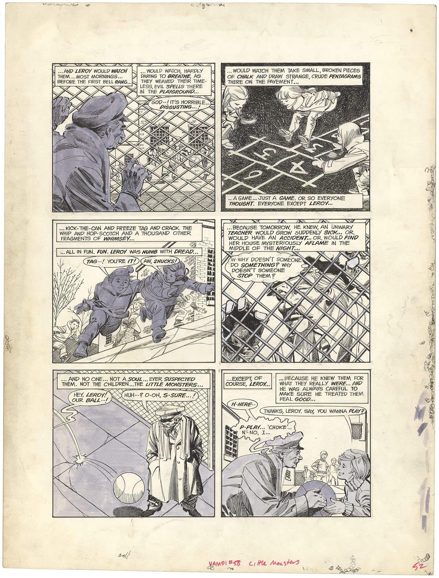 "Vampirella #58 p52 ""Little Monsters"" (Large Art)"