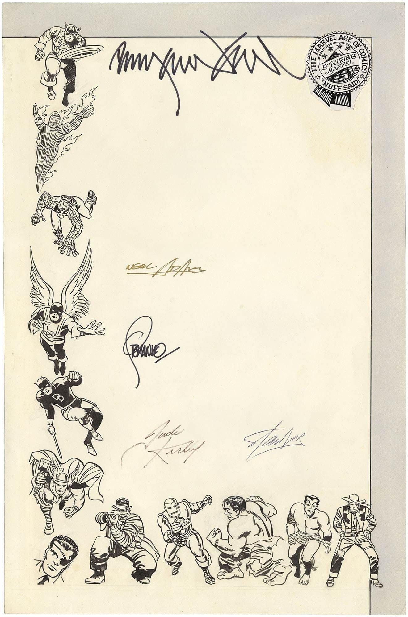 Merry Marvel Marching Society Letterhead - (5 Key Signatures)